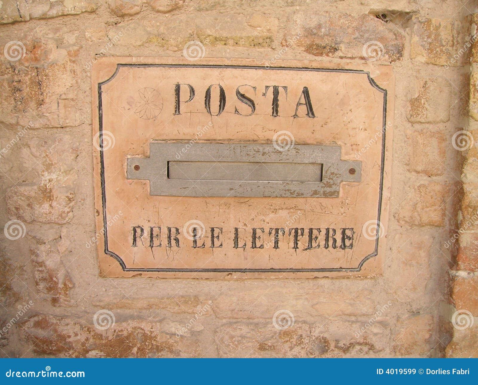 Italian mailbox