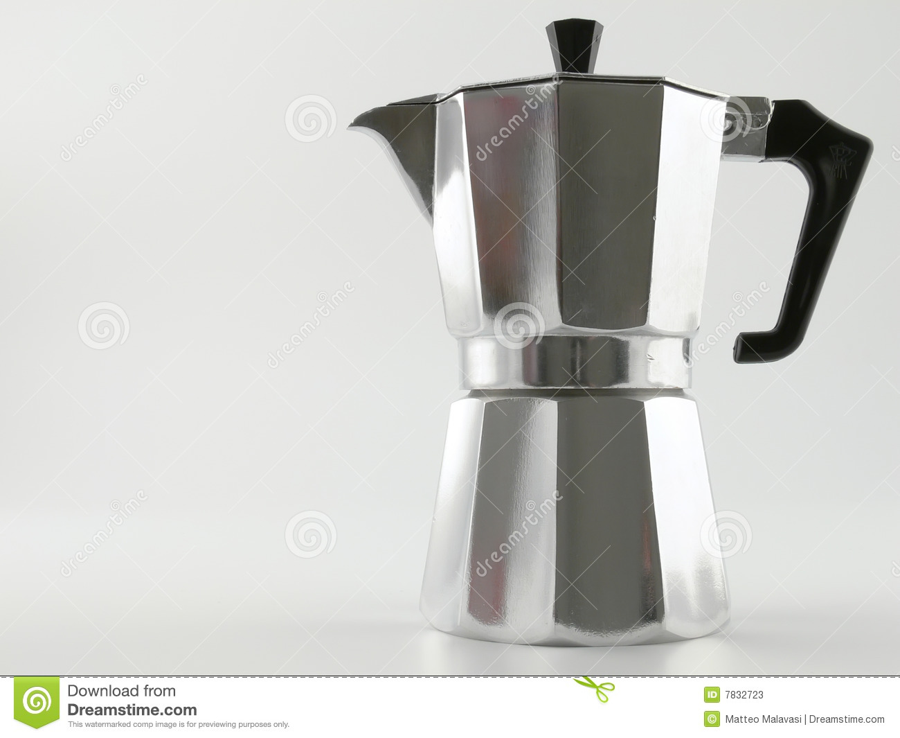 Close up picture of a typical italian coffee-maker.
