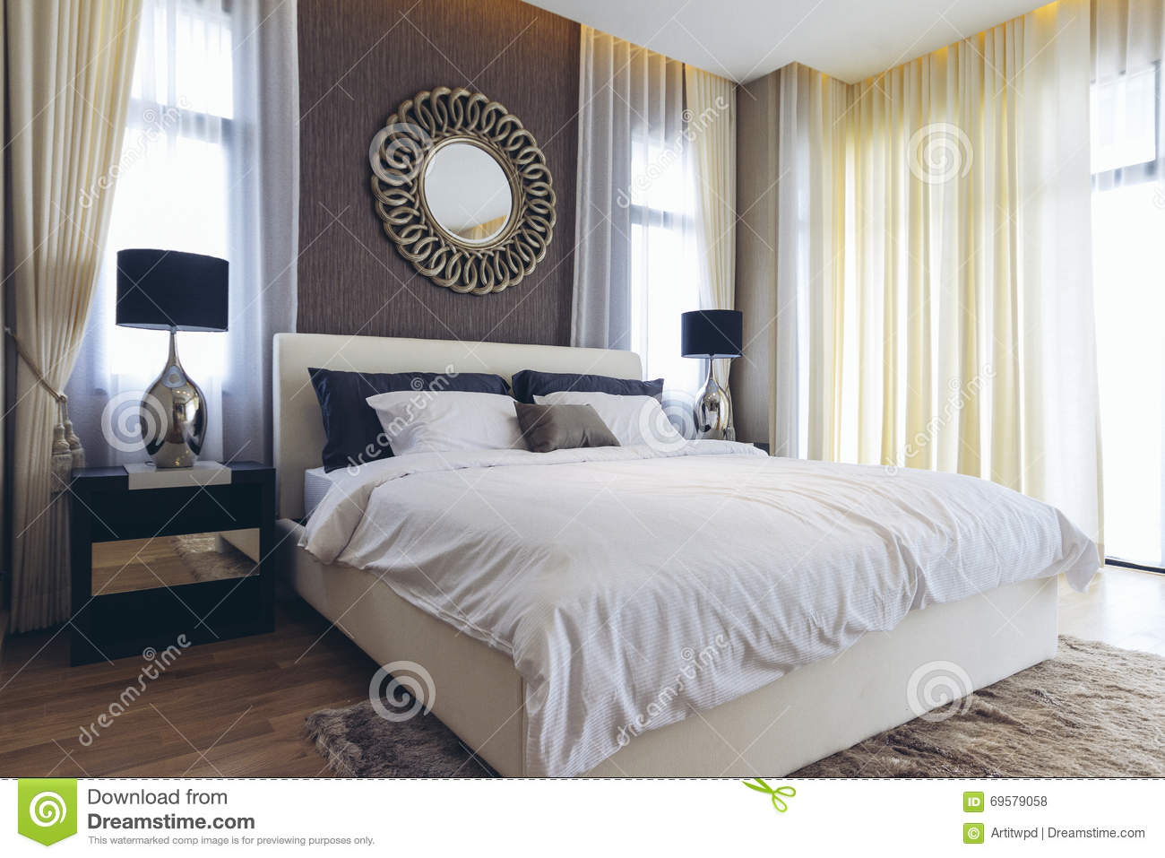 Italian modern model house bedroom stock photo image for Model petite chambre a coucher
