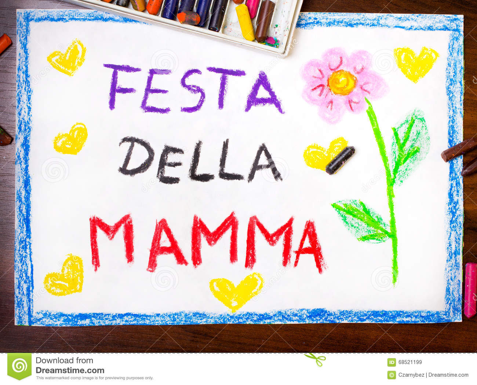 Italian mothers day card stock illustration illustration of italian mother s day card kristyandbryce Choice Image