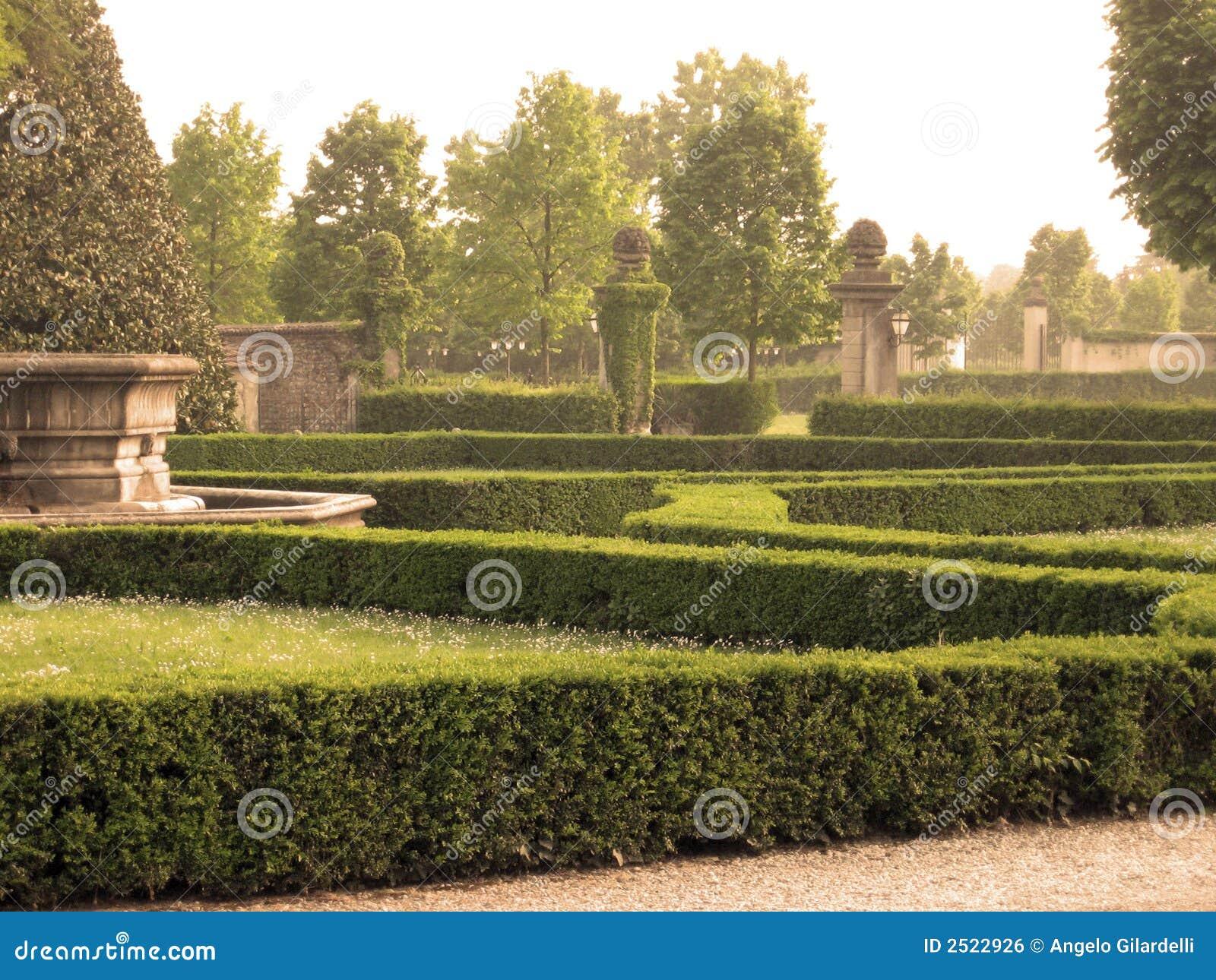 Italian neoclassic garden stock photo. Image of park, italy - 2522926