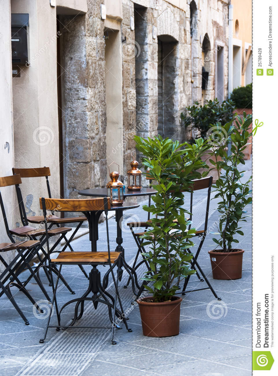 Italian Outdoor Cafe Royalty Free Stock Photos Image