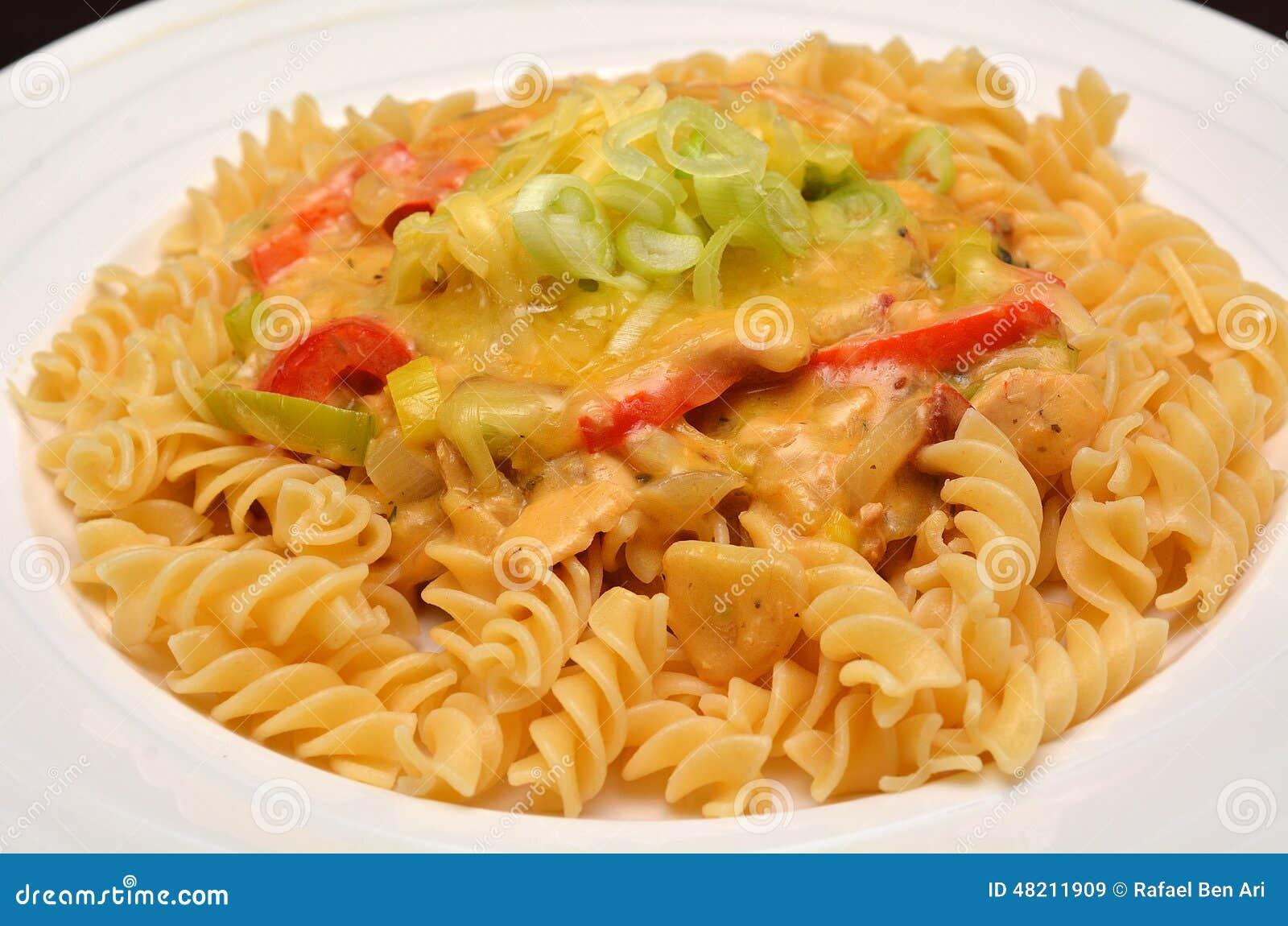 Italian Pasta With Sauce And Tuna Stock Photo - Image ...
