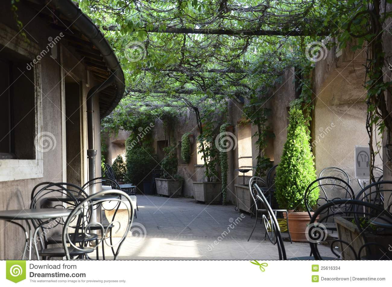 Italian Bistro Patio Stock Images Image 25616334