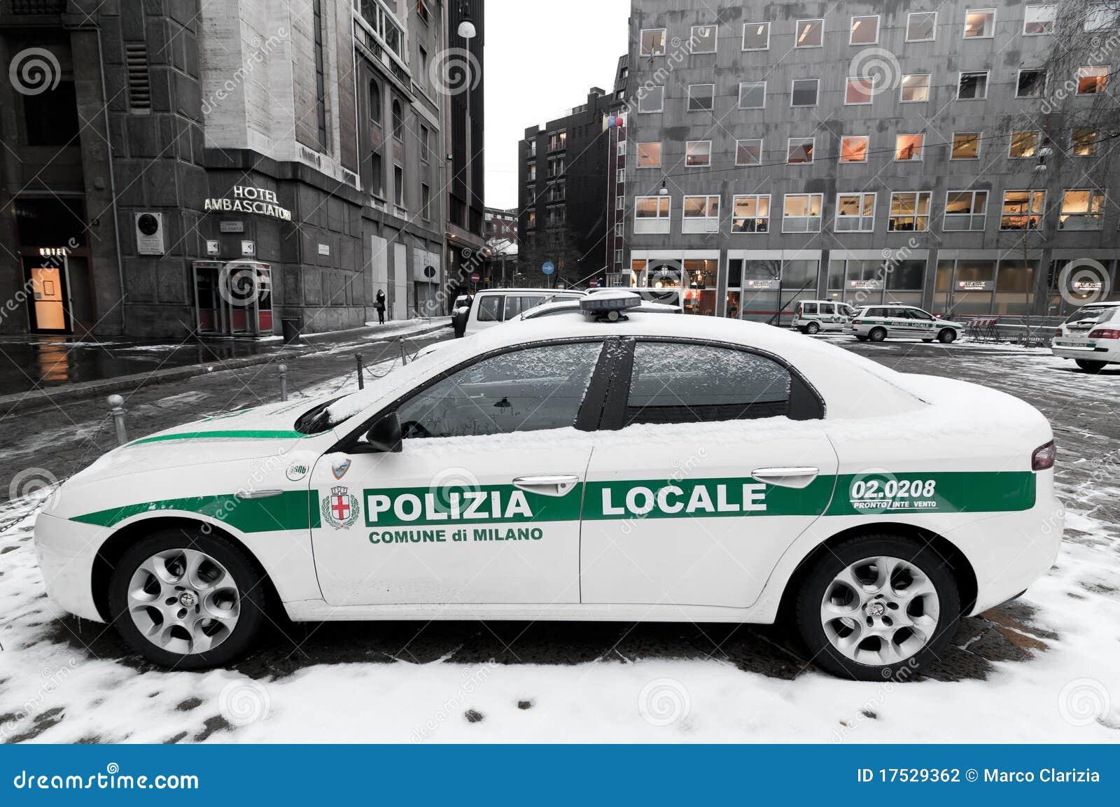 Italian Police Car Editorial Photography Image 17529362