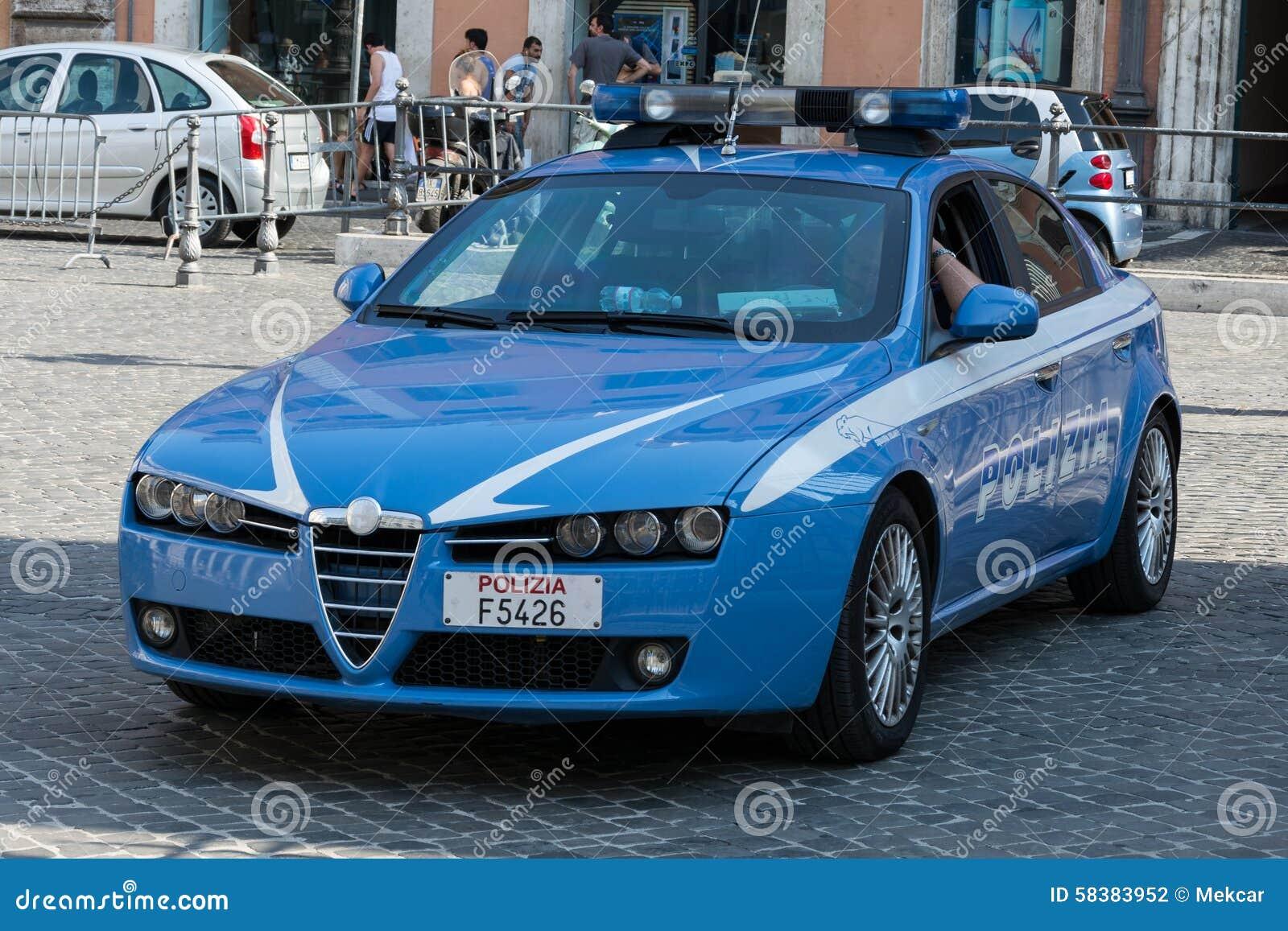italian police car alfa romeo 159 editorial photography image 58383952. Black Bedroom Furniture Sets. Home Design Ideas