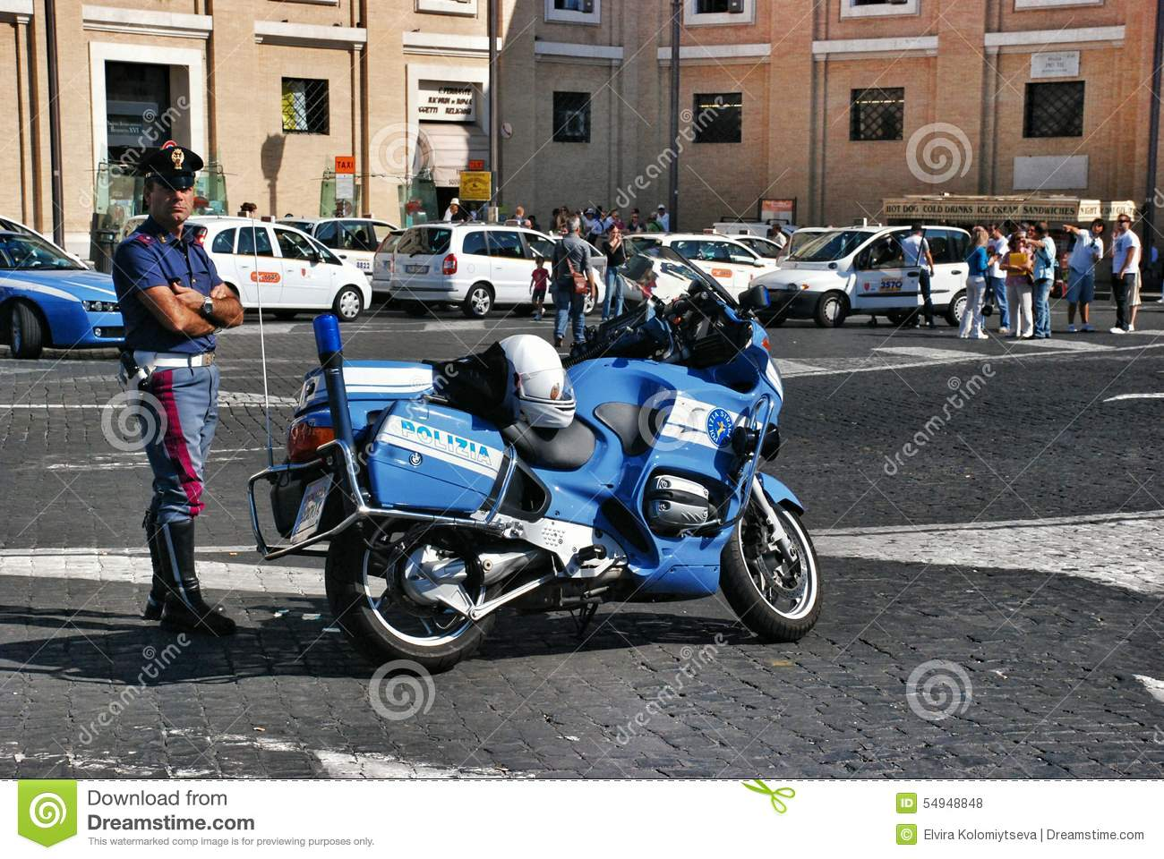 Italian police editorial stock photo. Image of famous - 54948848