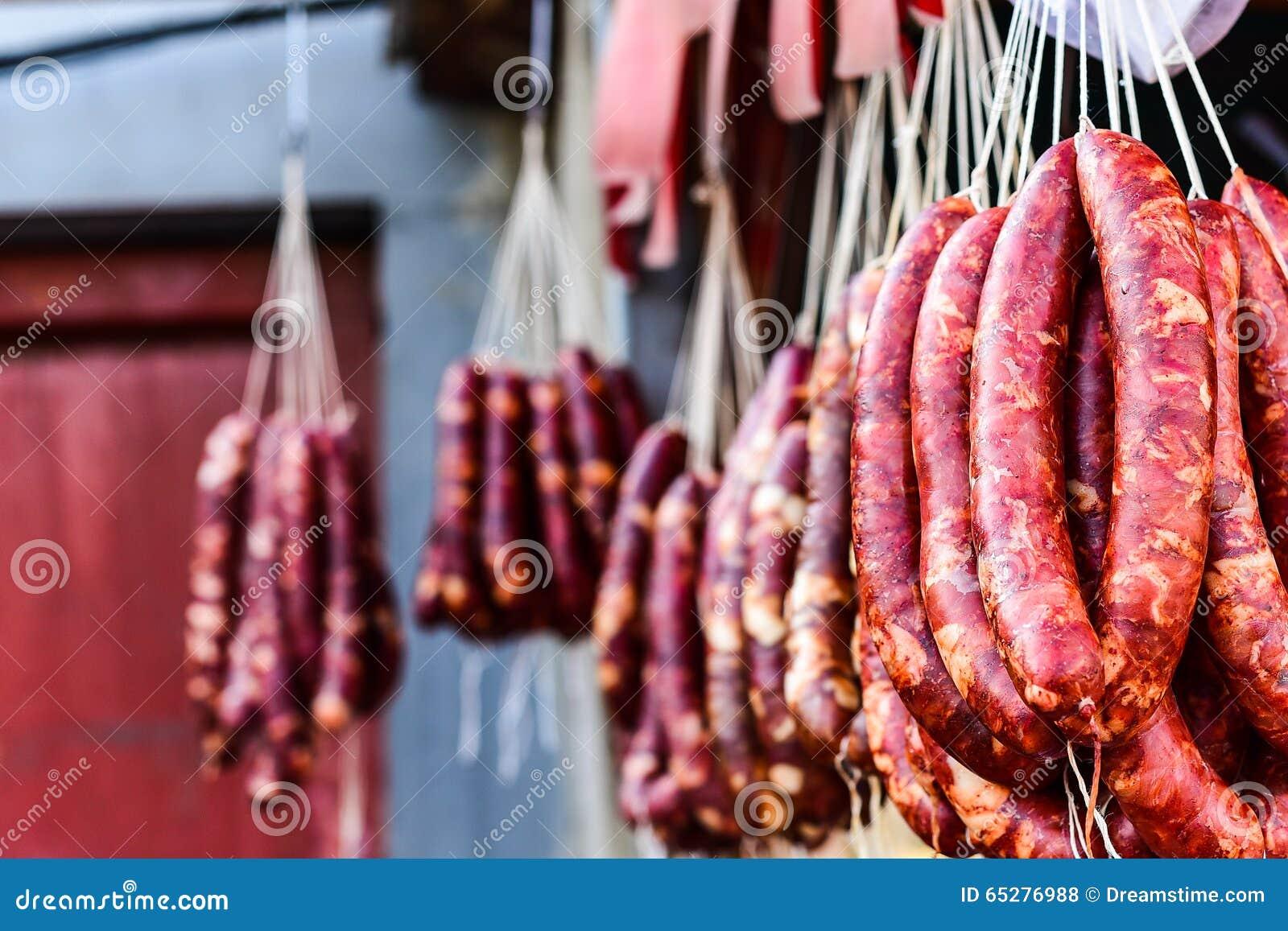 Italian pork sausage stock photo  Image of sasuage, exotic