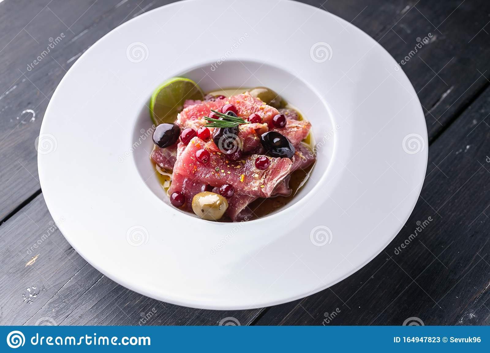 Italian Recipe For Tuna Carpaccio With Olive Oil Spices And Lime Juice Food Porn Mediterranean Kitchen Ketogenic Diet Meals Stock Image Of Freshness Fish 164947823