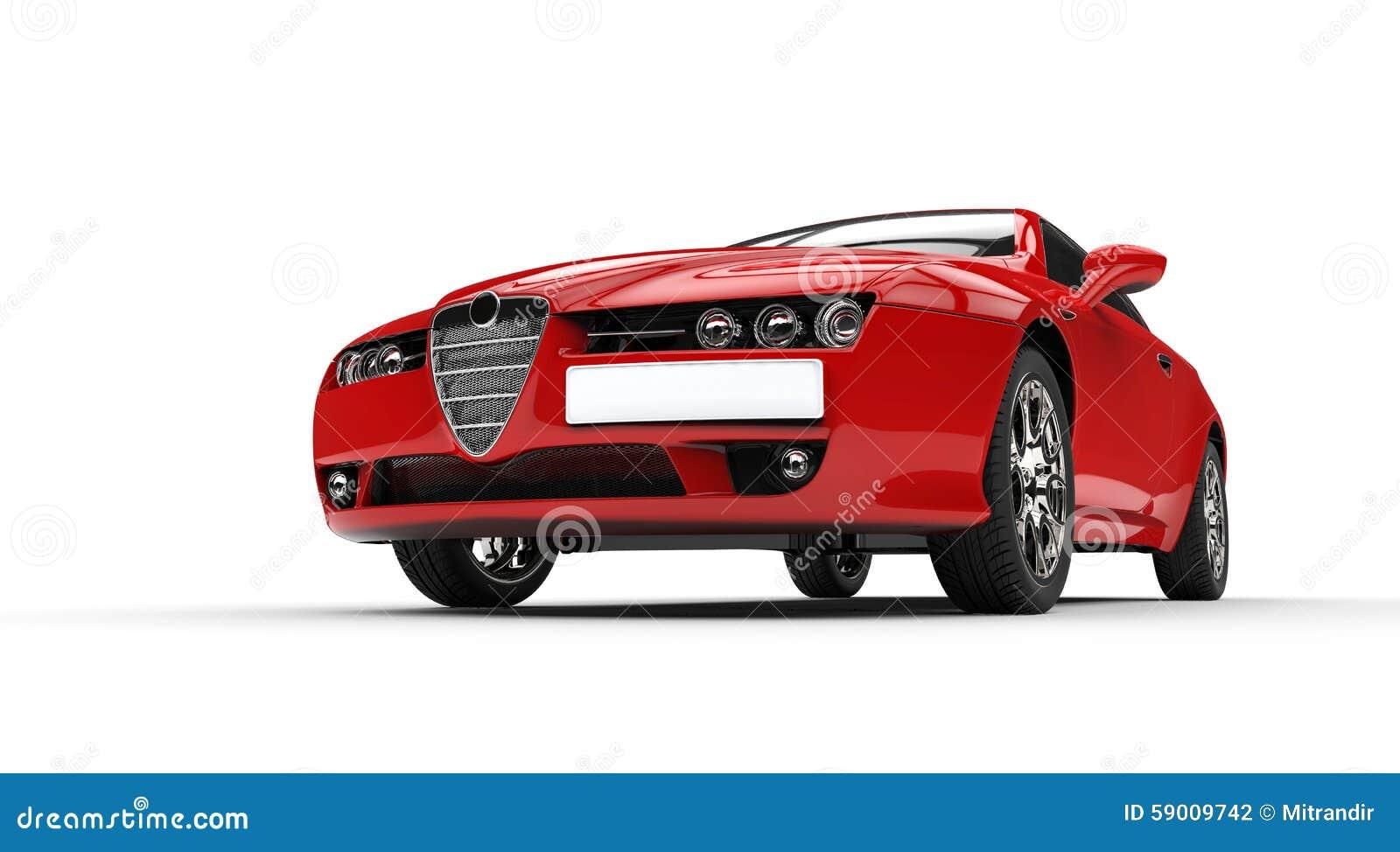 Italian Red Car Stock Photo - Image: 59009742