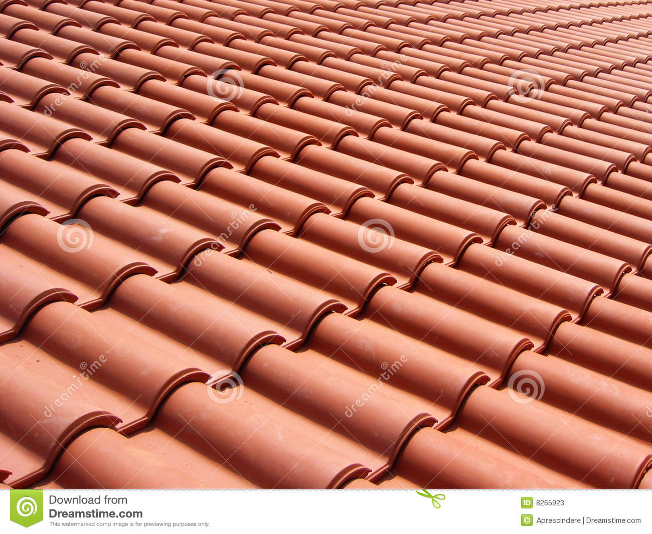 Italian Red Roof Tiles Stock Photos Image 8265923