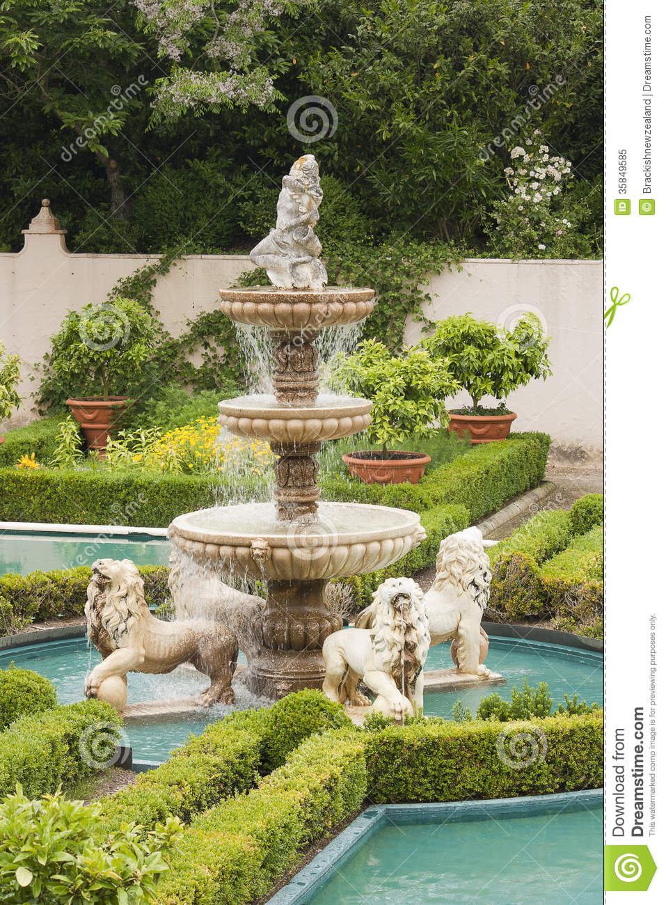 Water fountains outdoor new zealand - Italian Renaissance Garden Fountain