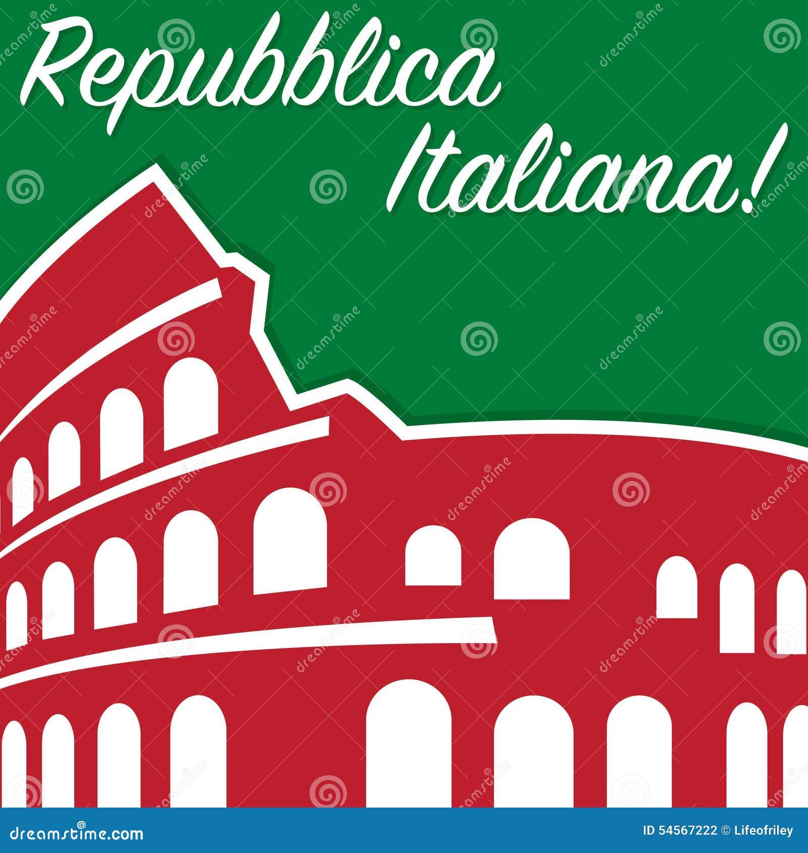 Italian Republic Day Stock Vector Illustration Of Invitation 54567222