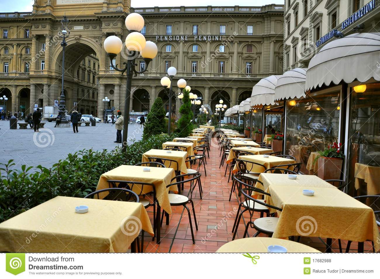 Italian Restaurant In Florence Italy Editorial Stock