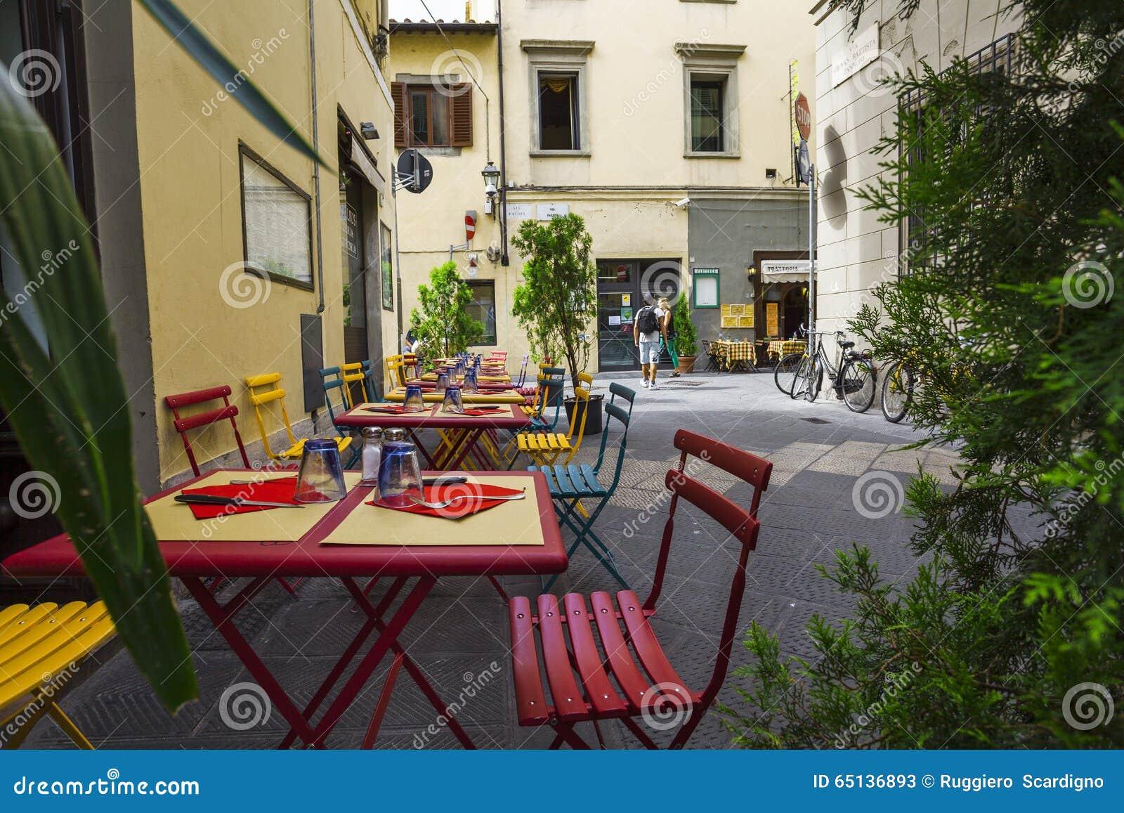 Italian restaurant,pizzeria and trattoria,Florence.Tuscany.