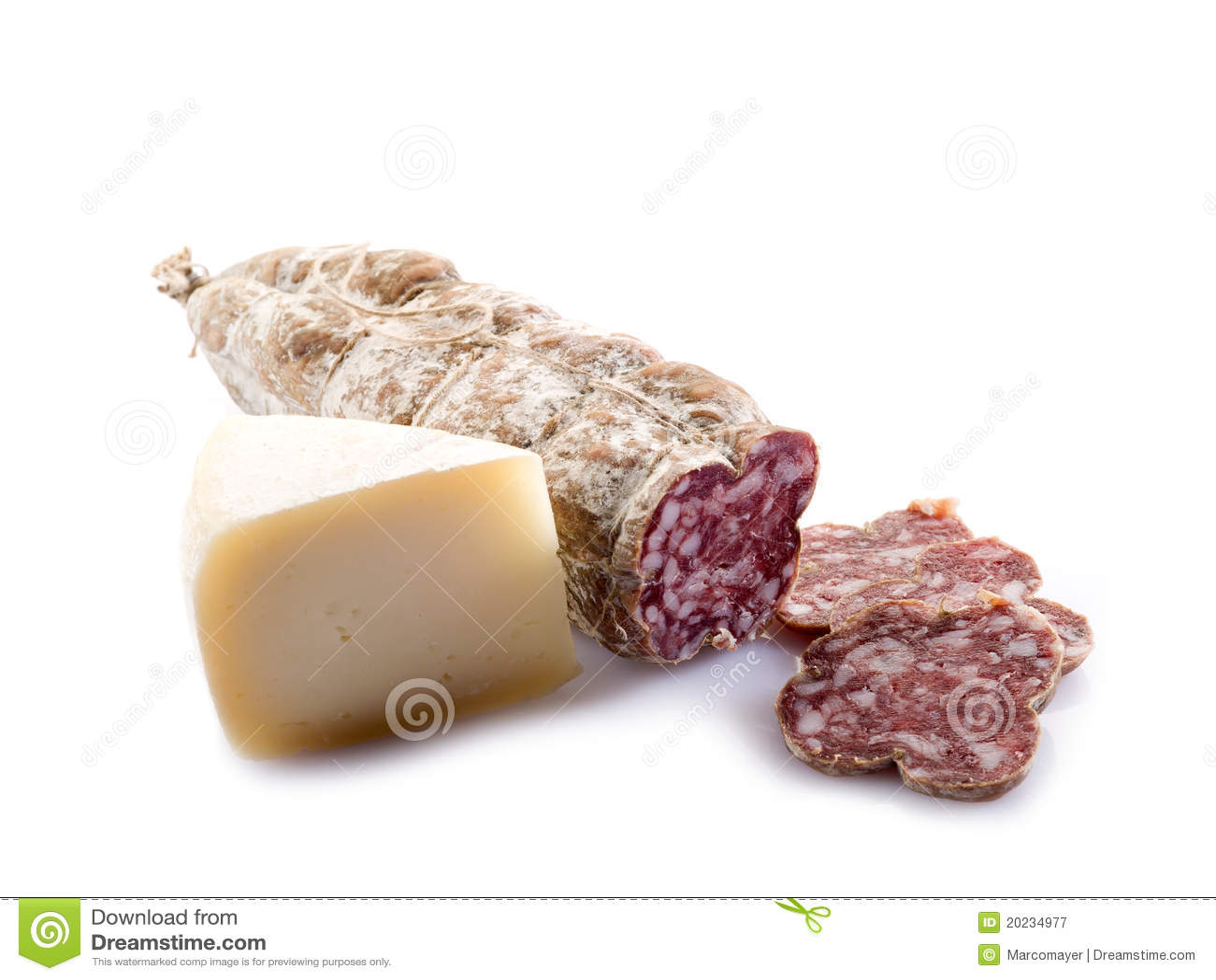 Italian salami and cheese