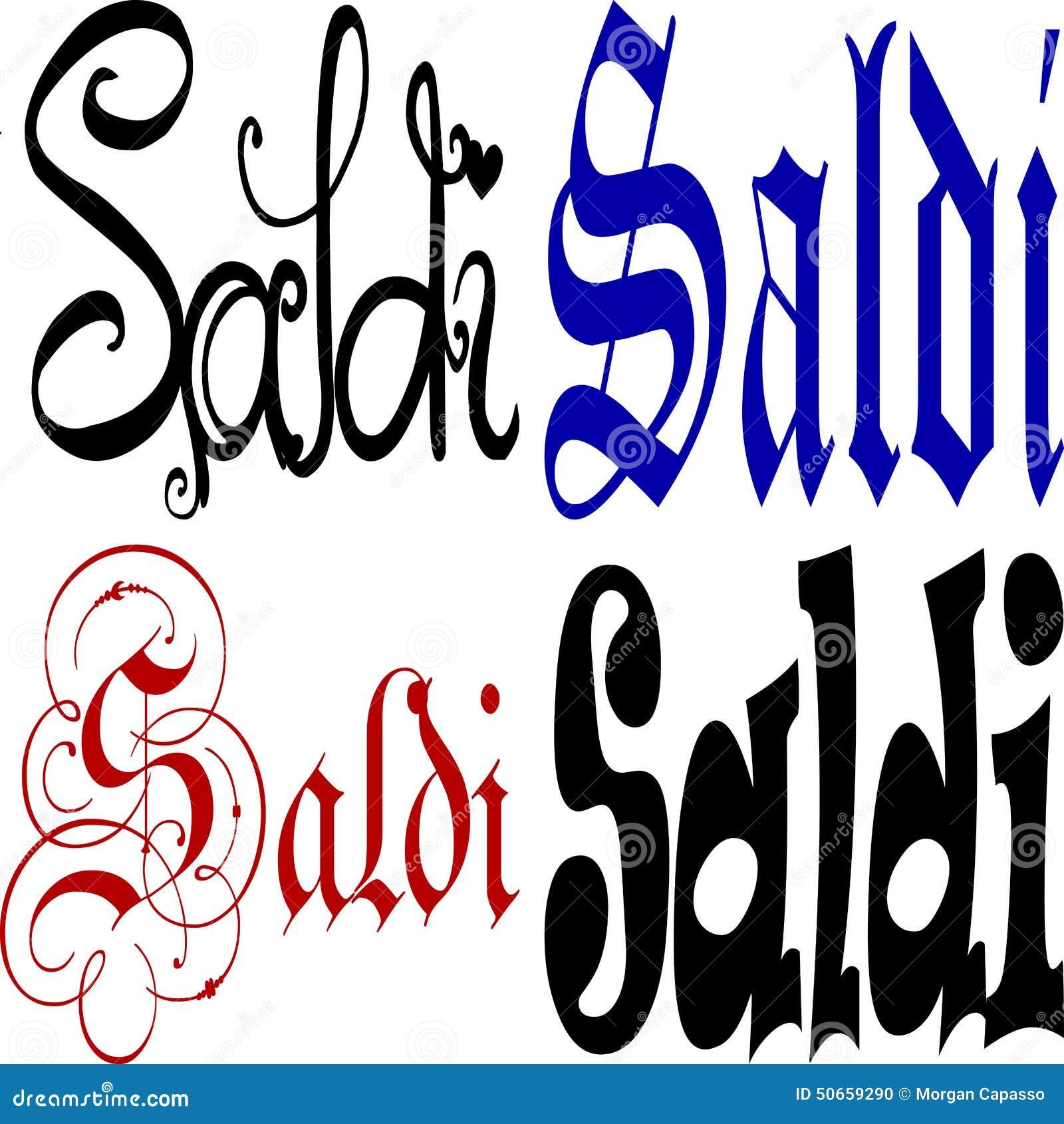 Italian Saldi Sign Stock Vector Image 50659290