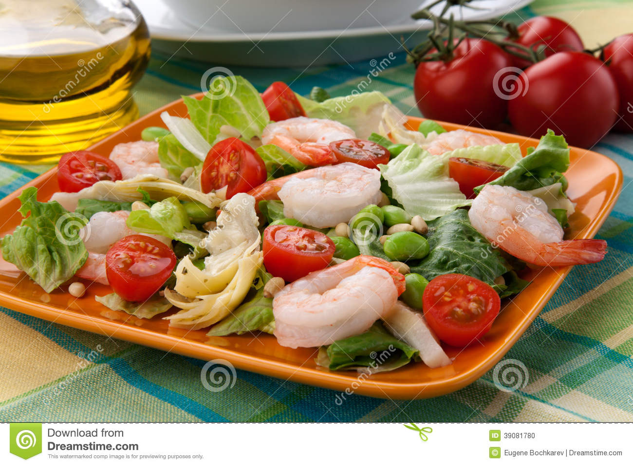 ... tomatoes, artishocke hearts, Romane lettuce leaves, fava beans, and