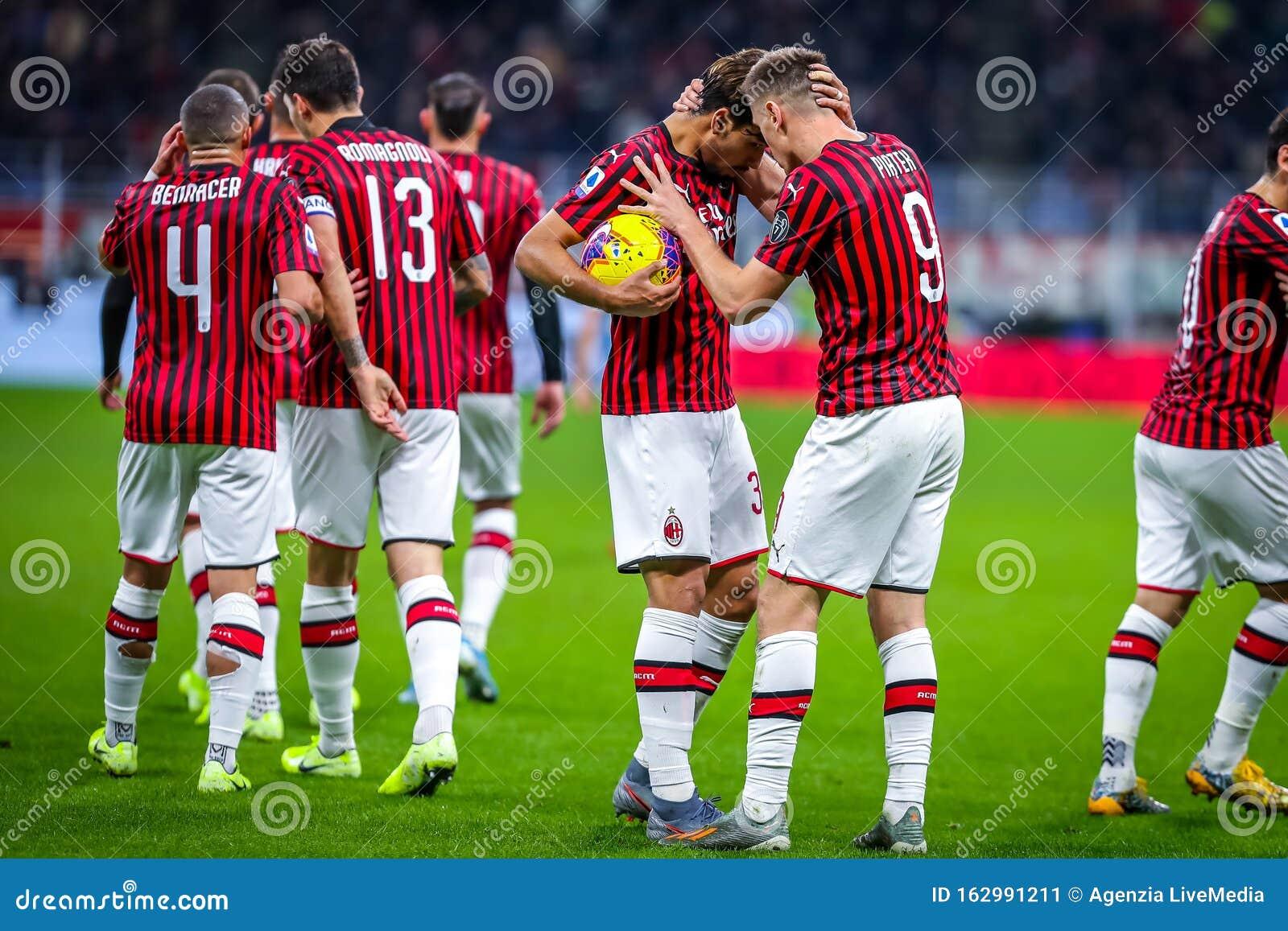 Italian Soccer Serie A Men Championship AC Milan Vs S.S ...