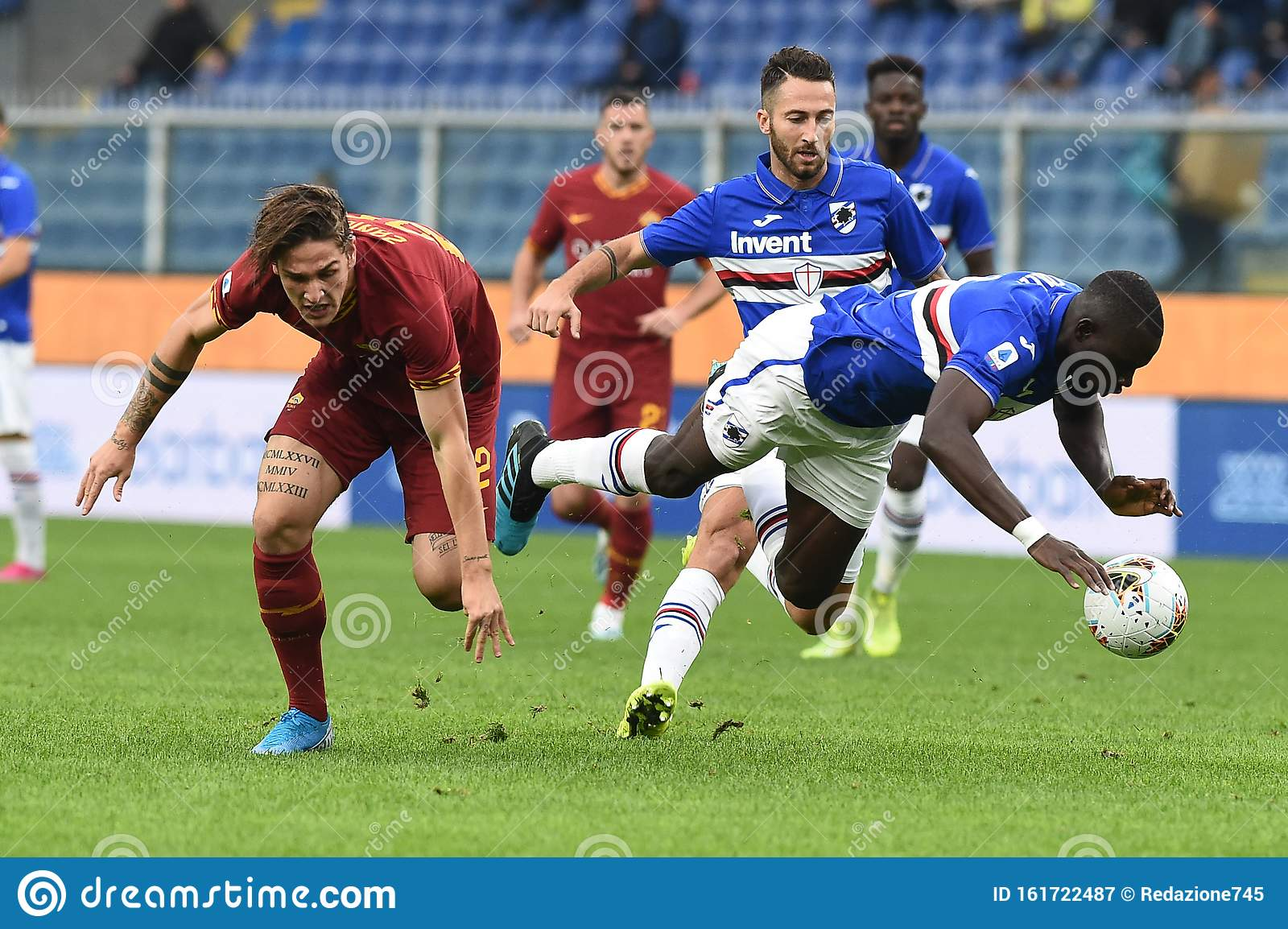 Italian Soccer Serie A Men Championship Sampdoria Vs As Roma Editorial Photography Image Of Vigo Nicol 161722487