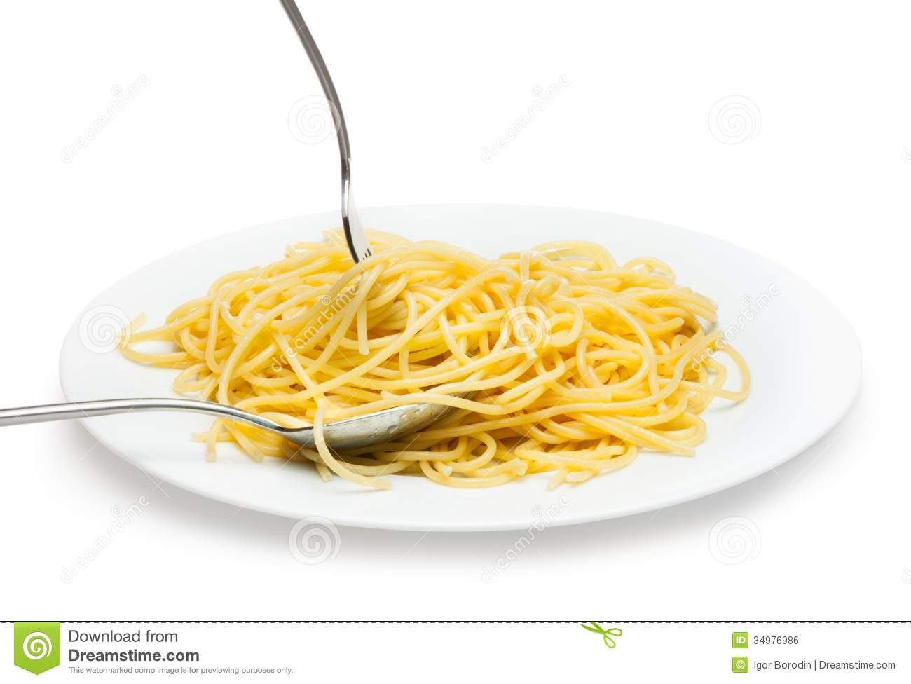 Italian Spagetti Cooked In A White Plate Royalty Free Stock Image ...
