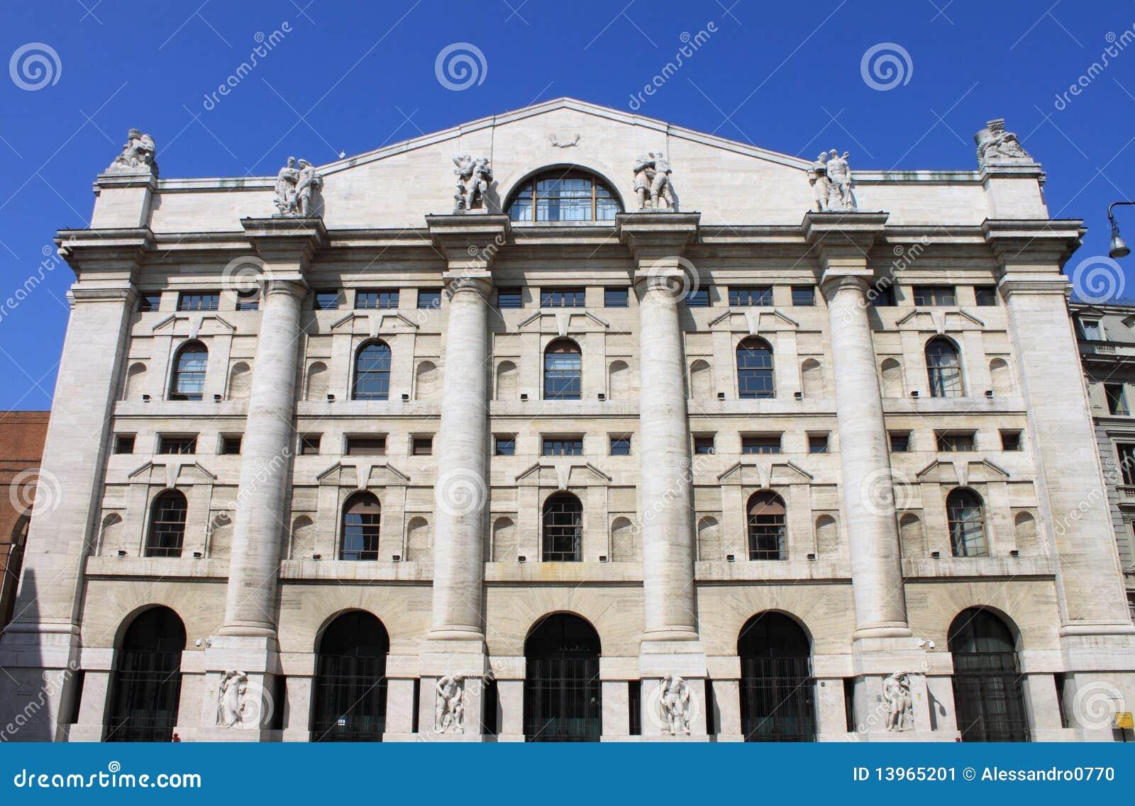 Italian Stock Exchange In Milan Stock Image - Image: 13965201