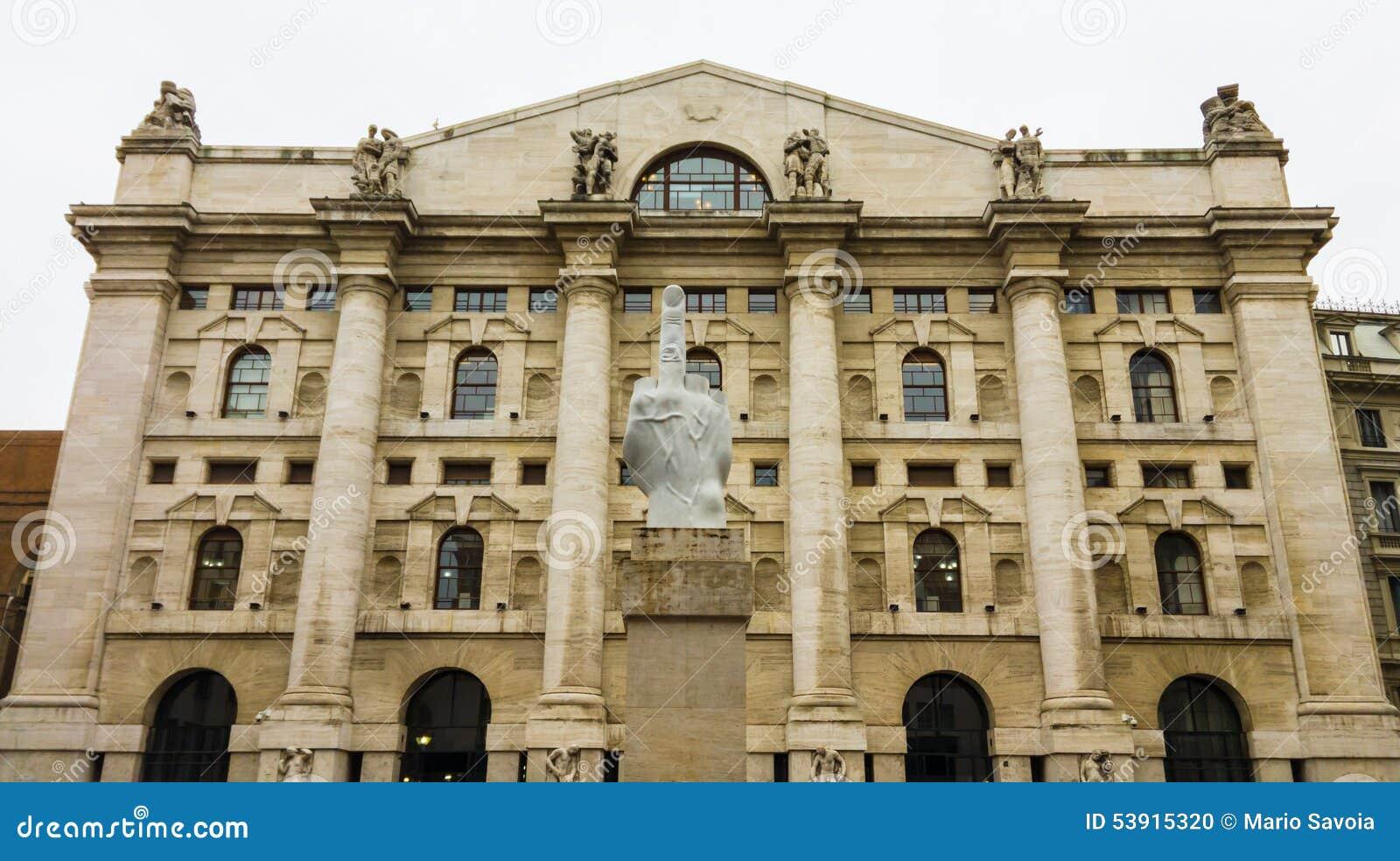 Italian stock exchange editorial image. Image of ...