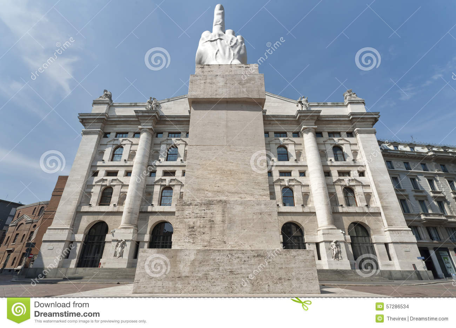 Italian Stock Exchange In Milan Stock Photo - Image of ...