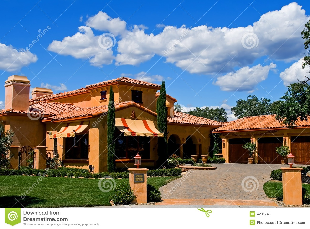 Italian style house royalty free stock photos image 4293248 Italian style house