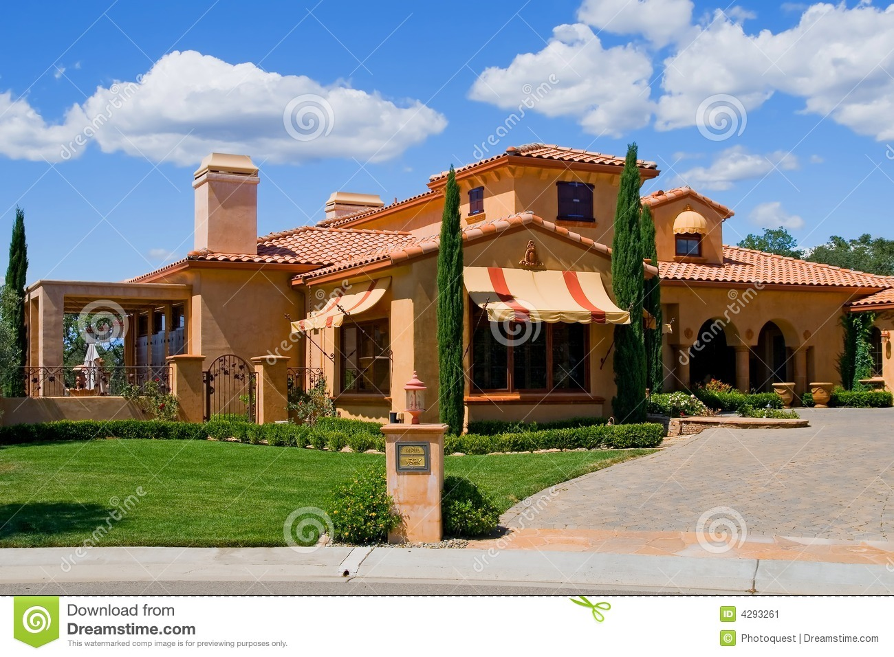 Italian style house stock image image 4293261 for House architecture styles