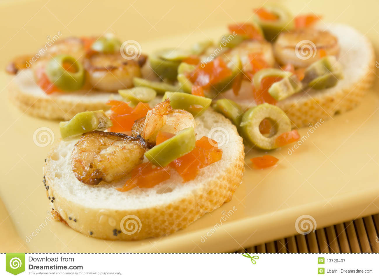 Italian Style Shrimp Appetizer Royalty Free Stock Photography - Image ...