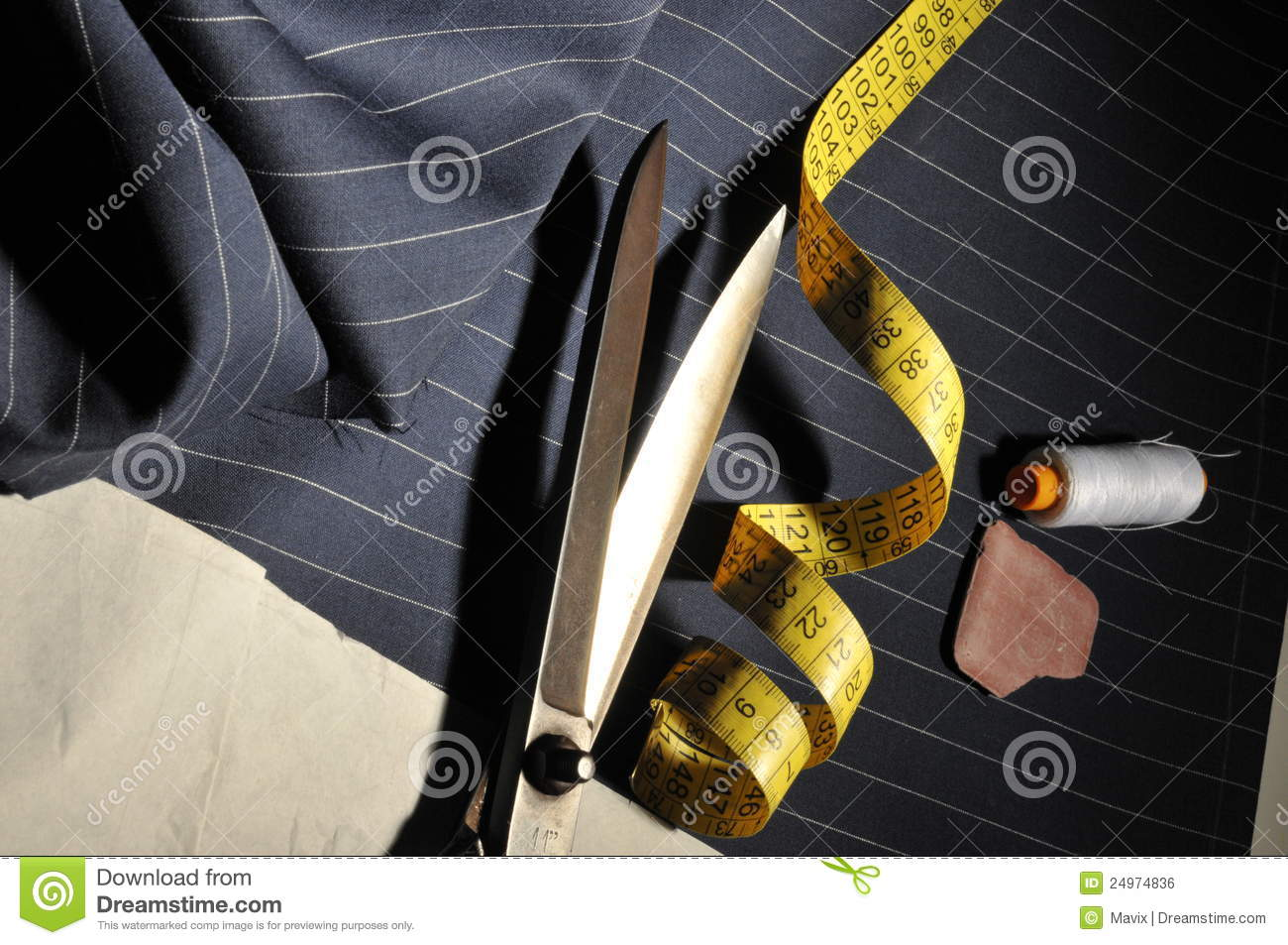 Italian tailoring stock photo  Image of clothing, pinstripe