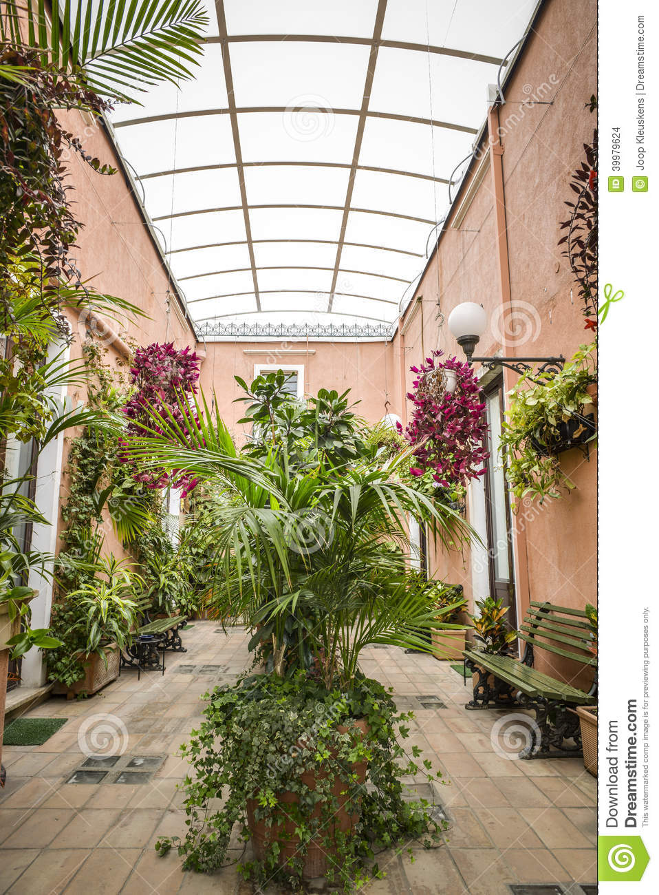 Italian terrace garden stock photo image of residential for Terrace plants