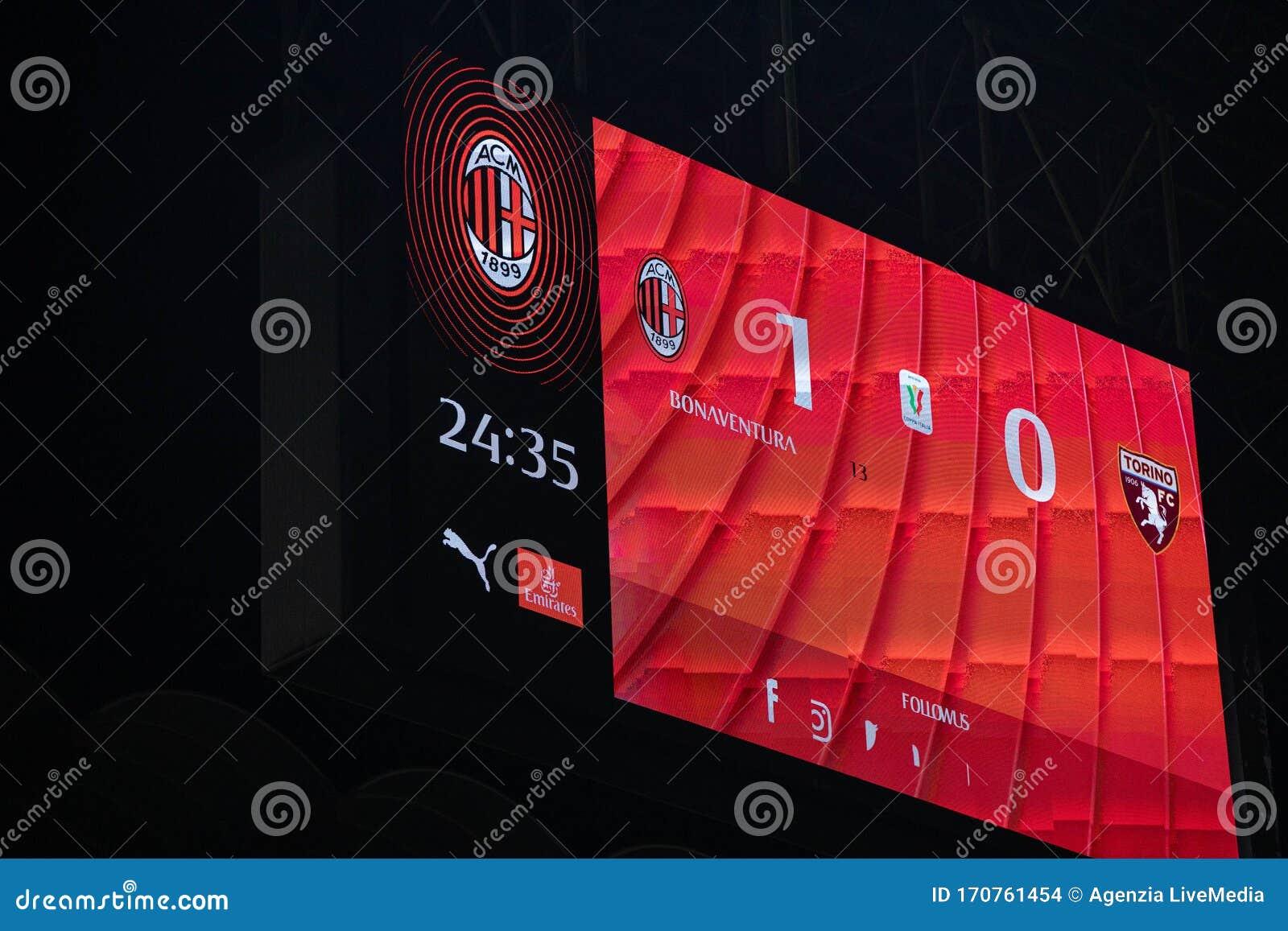 Italian TIM Cup Championship AC Milan Vs Torino Editorial ...