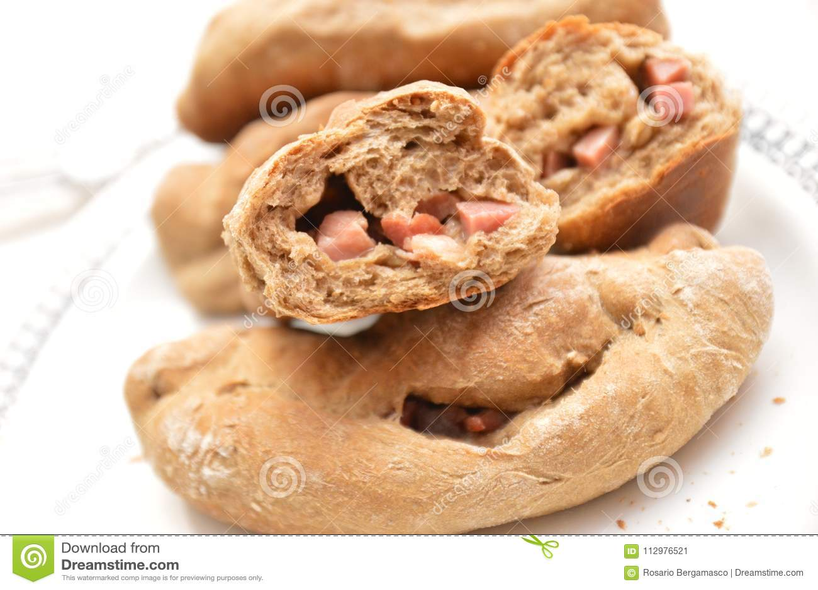 Italian traditional bread of Napoli city