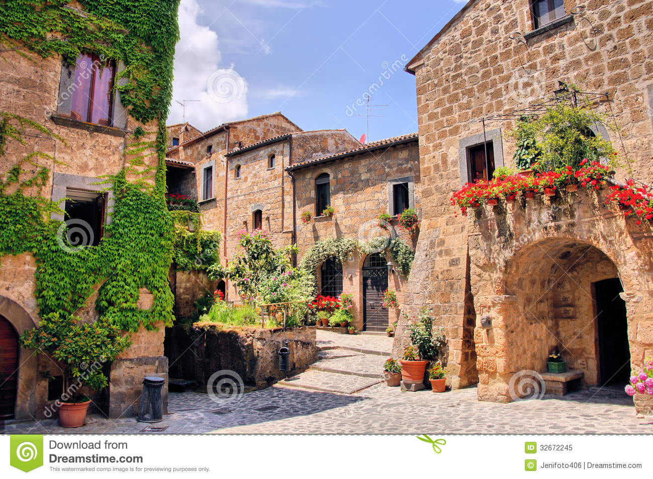 Italian village stock image image of courtyard exterior for Village town