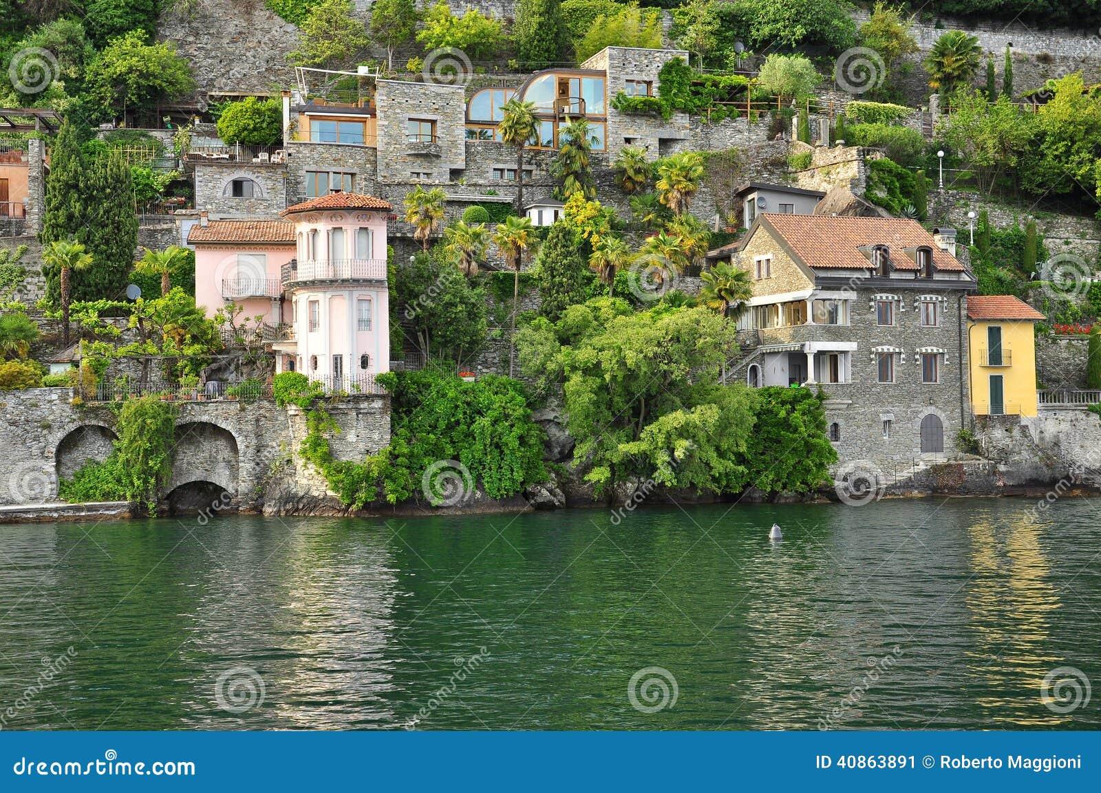 Italian villas by the shore of lake lago maggiore italy for Designhotel lago maggiore
