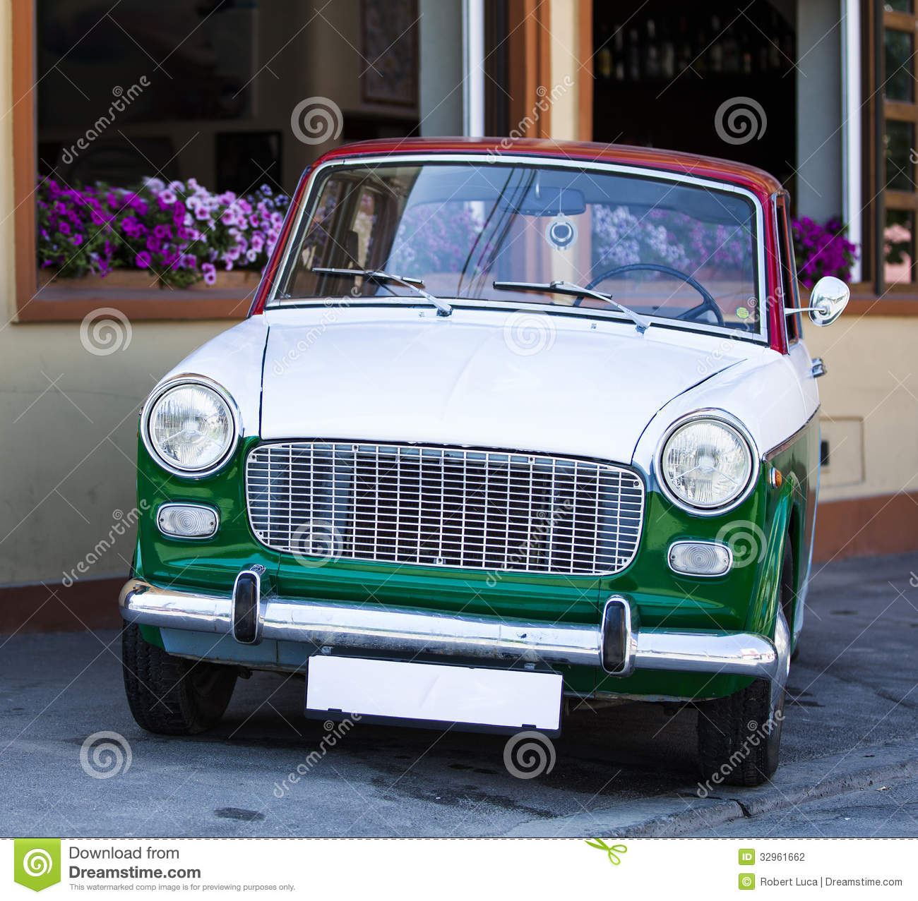 Small Car In Colors Of Italian Flag Royalty-Free Stock