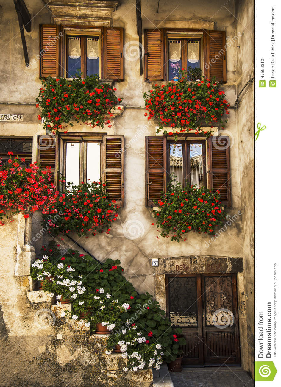 Italian Windows Editorial Stock Photo Image 47596313
