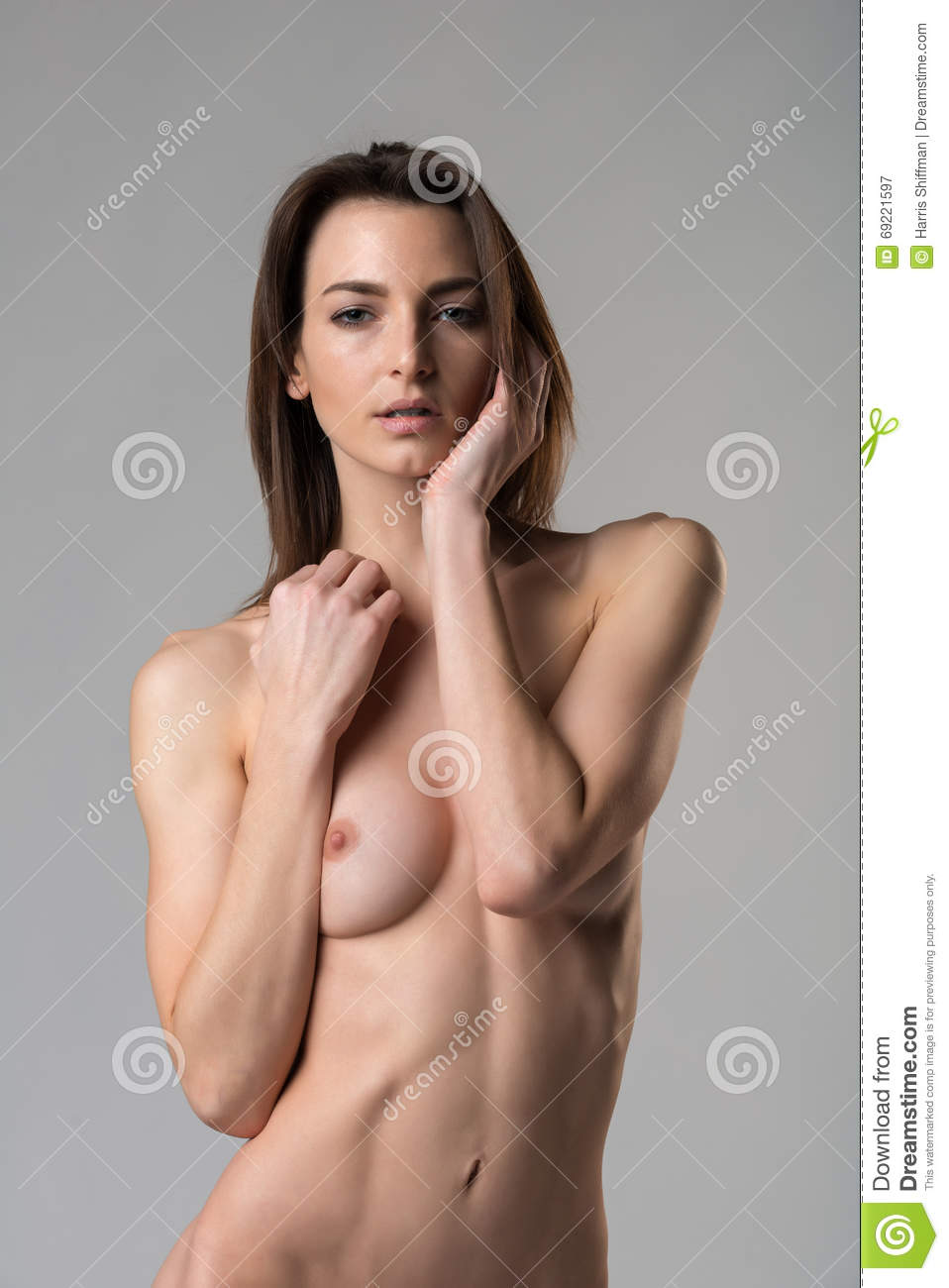 italian woman on gray stock image. image of nude, tall - 69221597