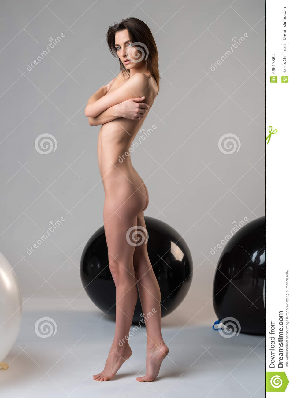 italian woman on gray stock photo. image of topless, hair - 69517364