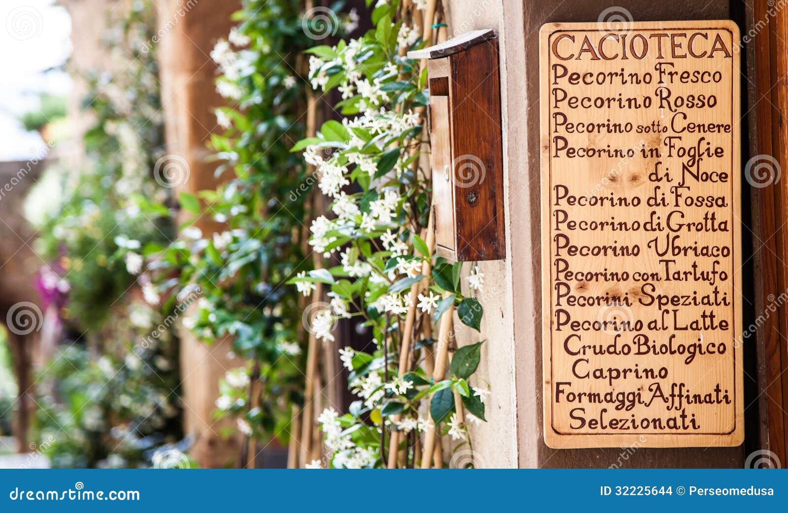Download Italiano Cacioteca foto de stock. Imagem de italy, tuscan - 32225644