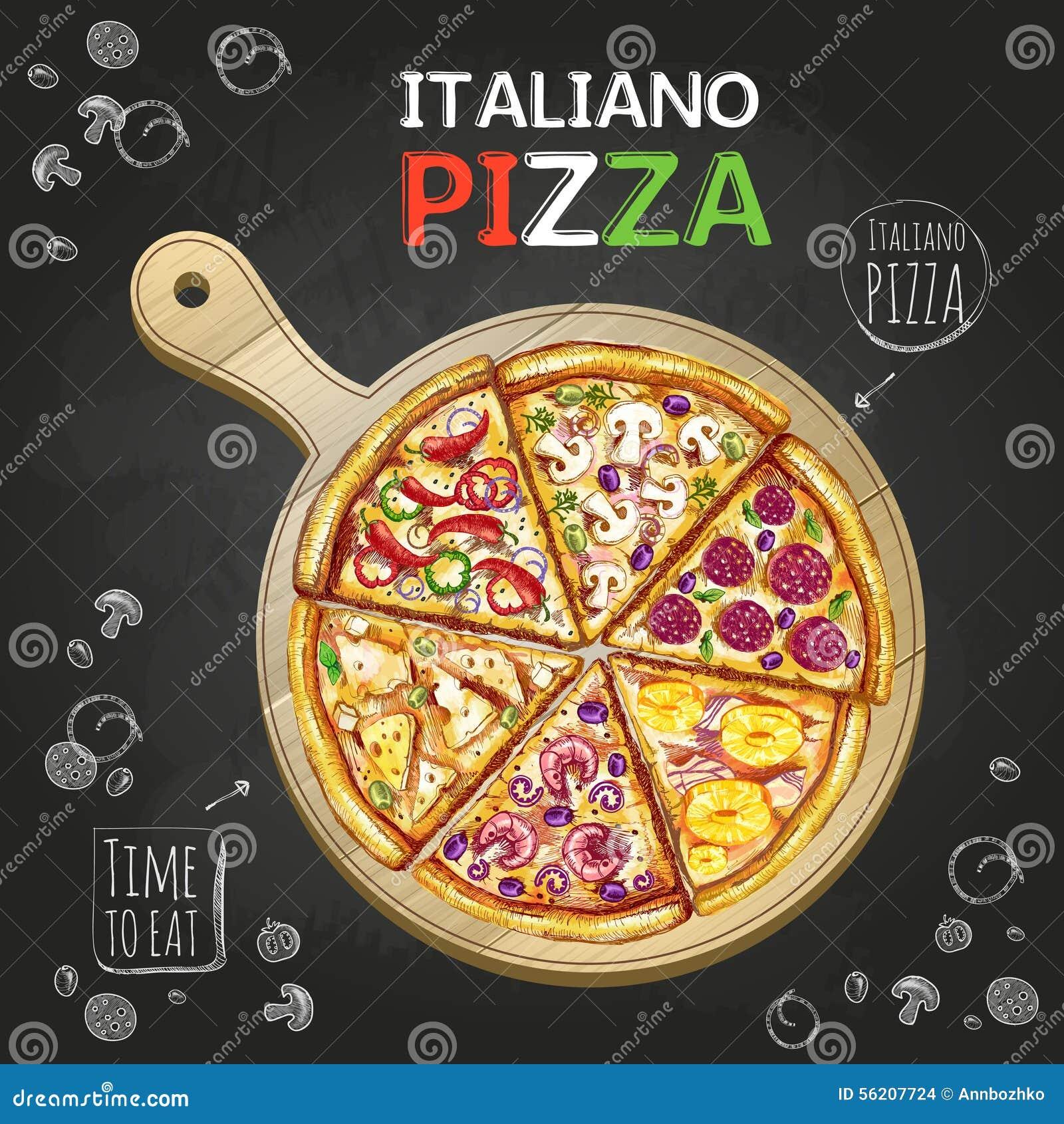 Italiano pizzy plakata tło