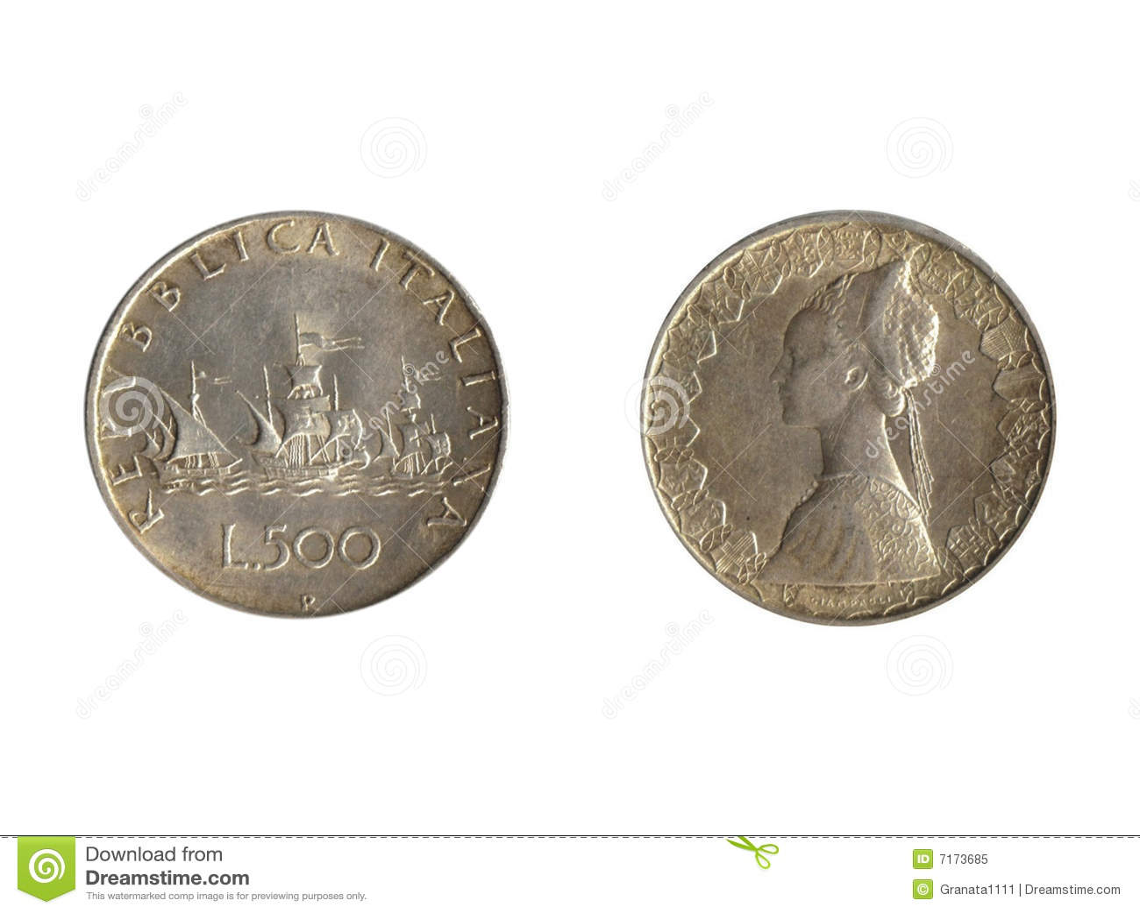 piece de monnaie en italien