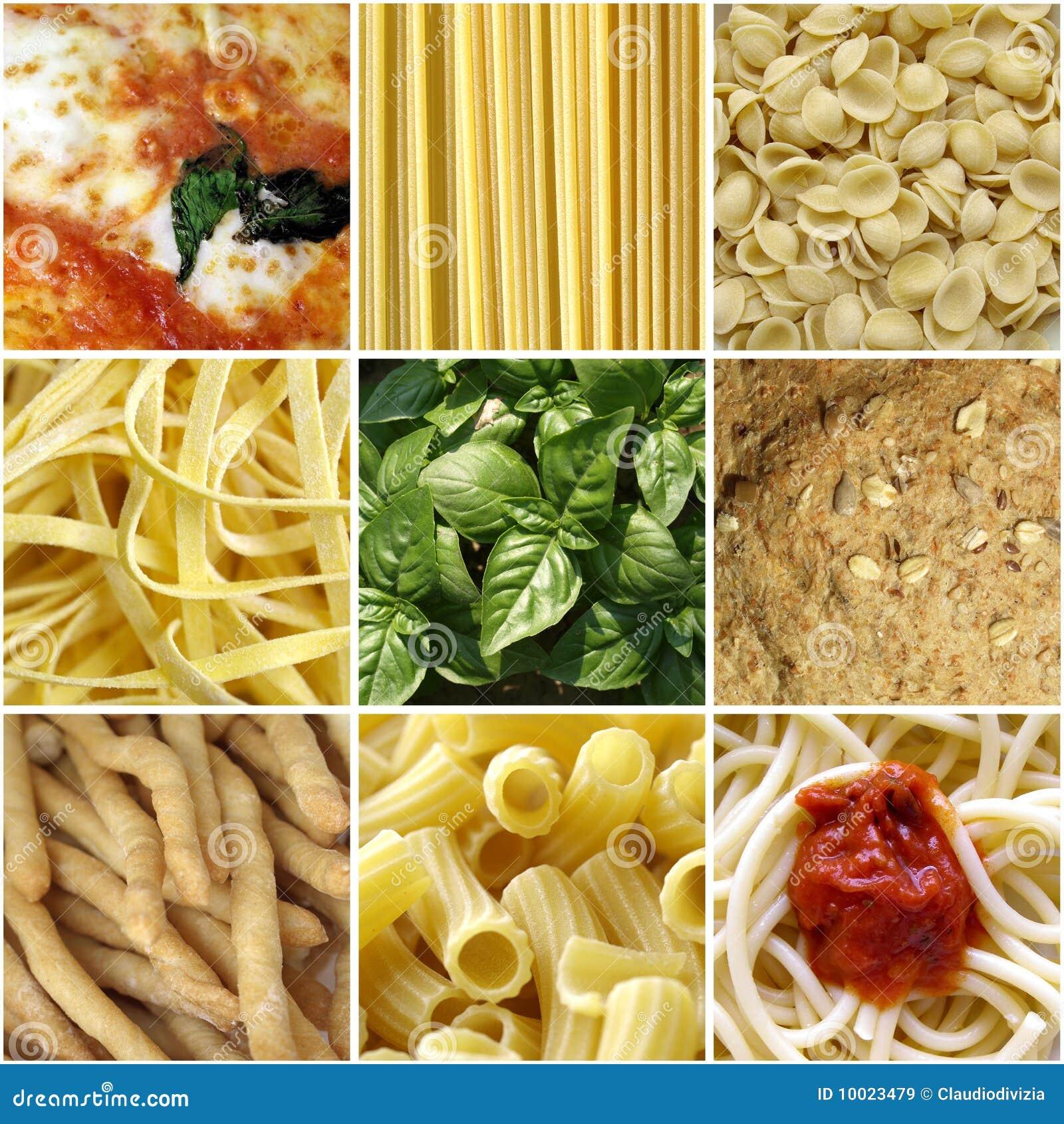 Italien de nourriture de collage