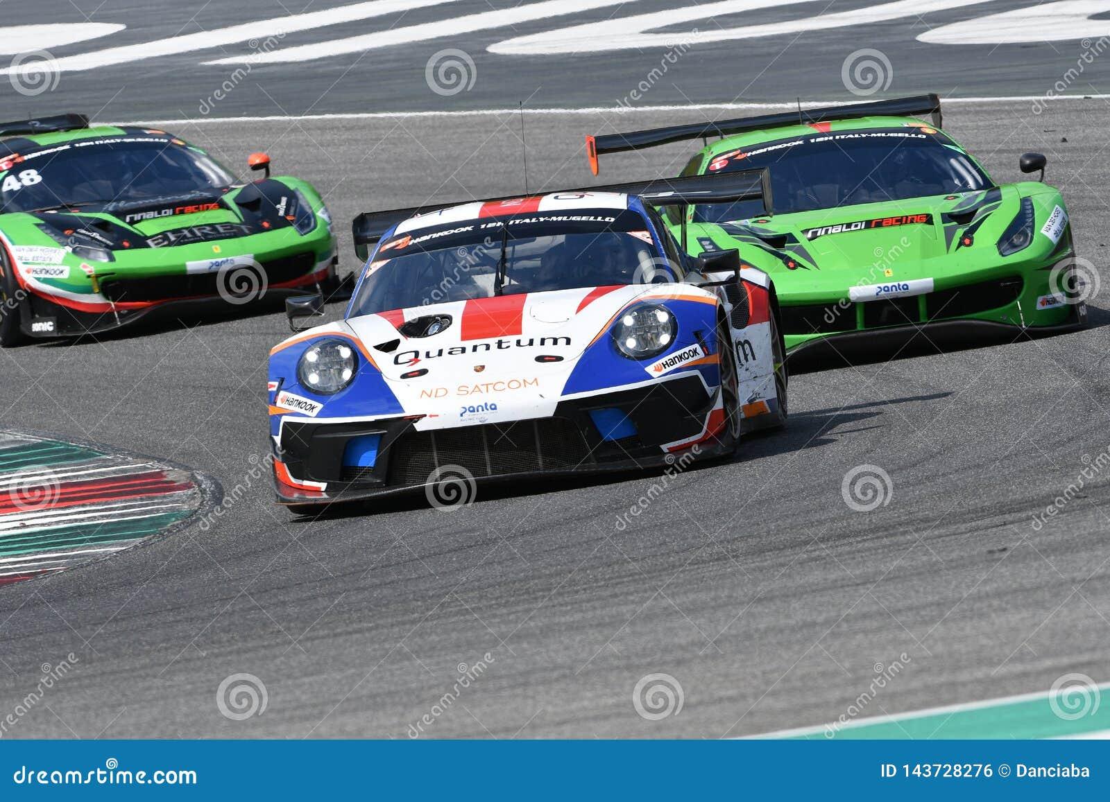 Italien - 29. März 2019: Porsche 911 GT3 R von Herberth-Motorsport-Deutschland-Team