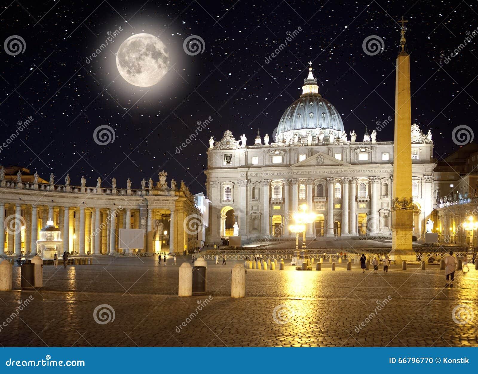 Italien rom vatican Heiligespeters Quadrat nachts