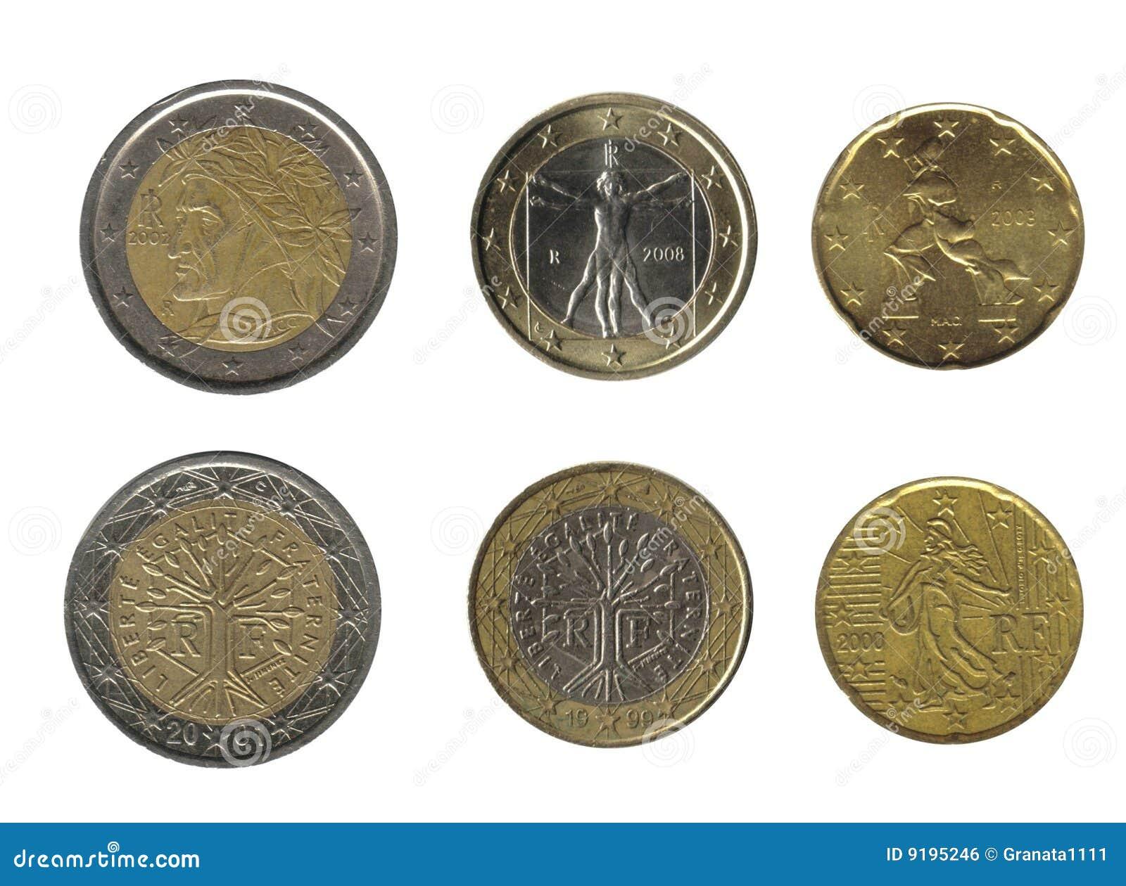 Italien und Frankreich, Münzen