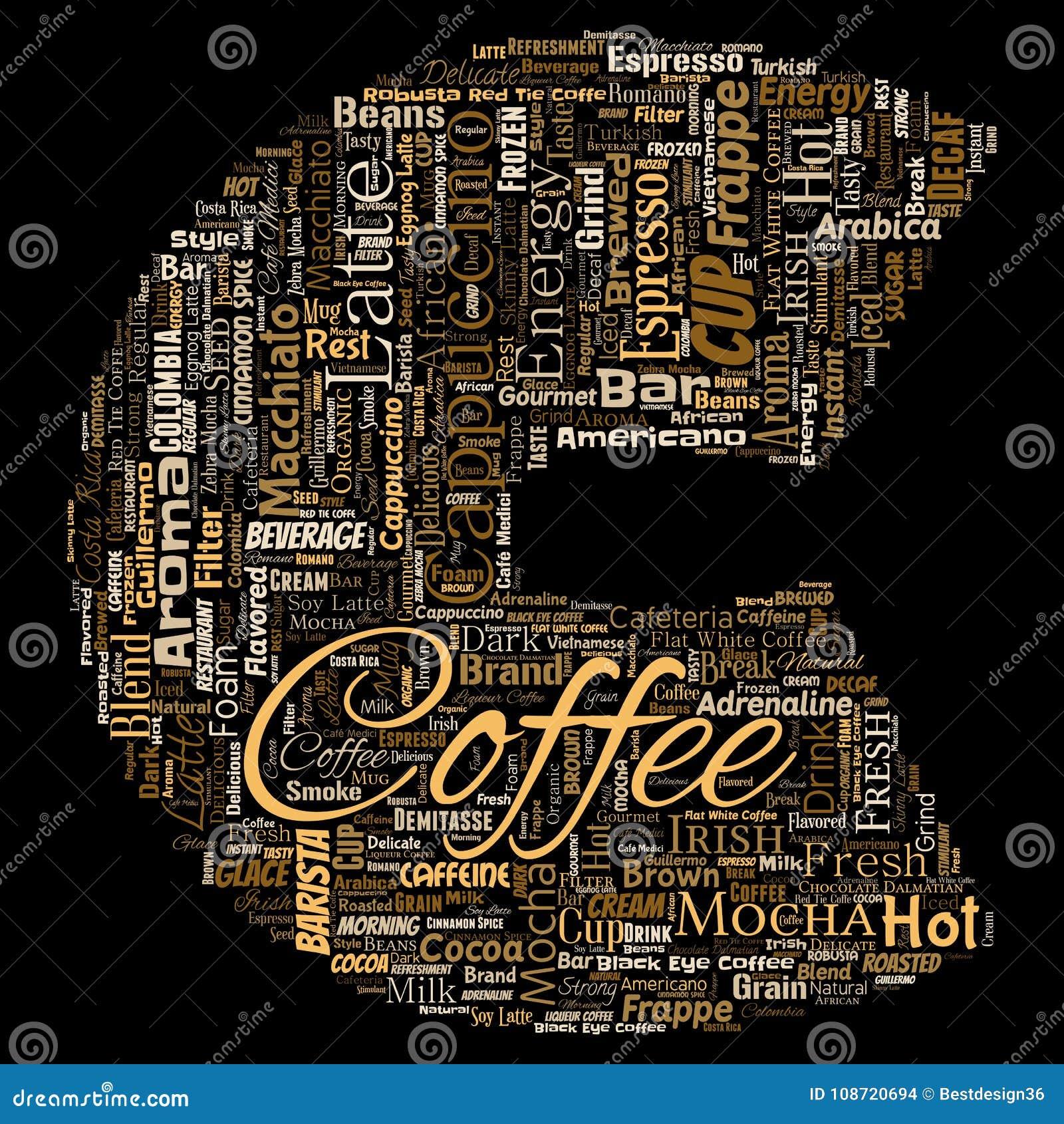 Italienische Kaffeepause Des Kreativen Heißen Morgens Des Vektors ...