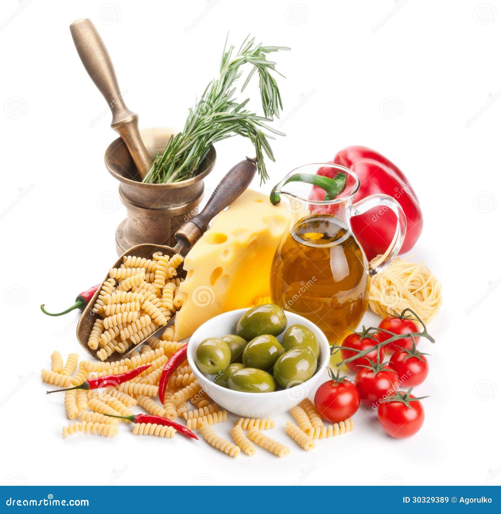 Italienische Küche. Teigwarenbestandteile Lizenzfreie Stockbilder ...